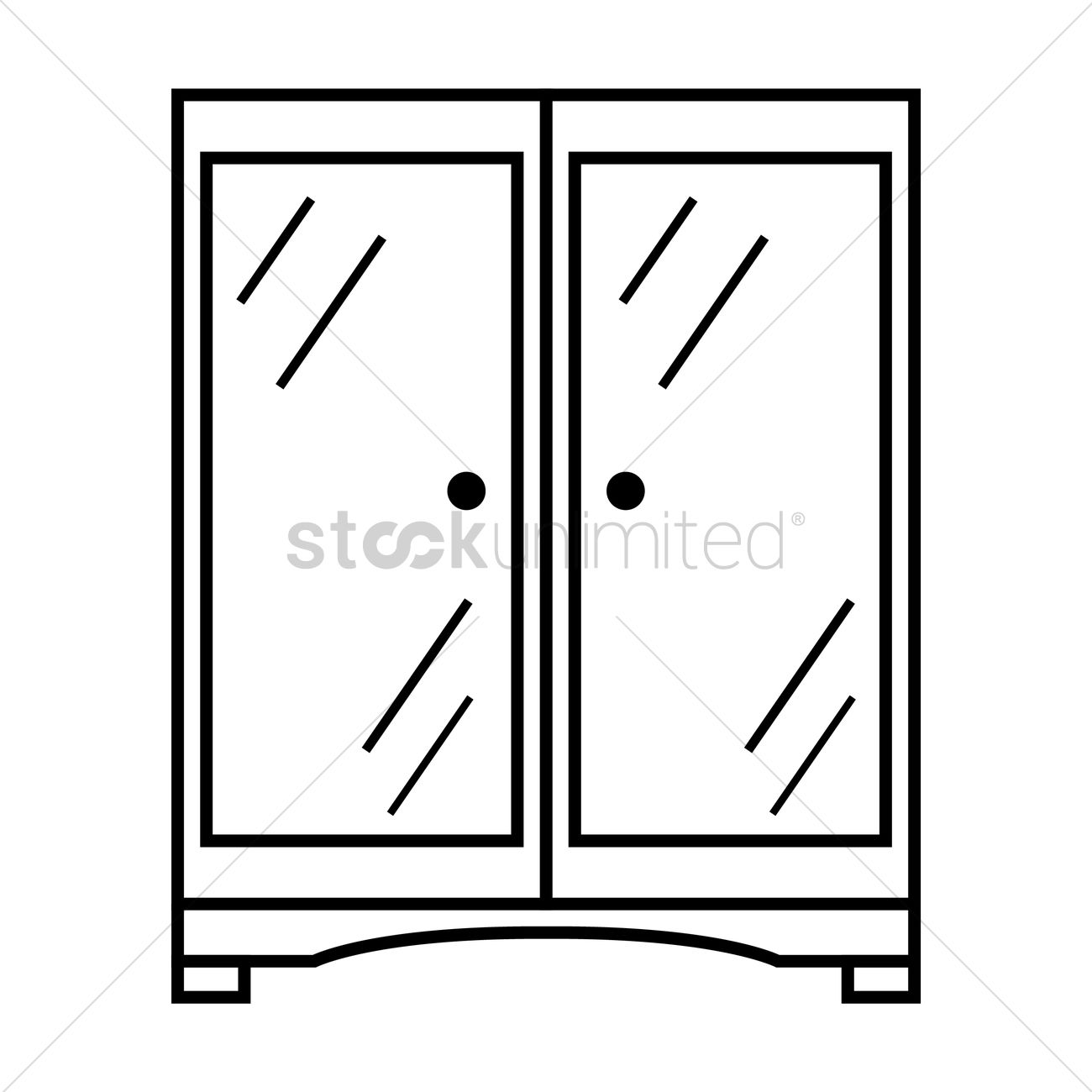 Cupboard clipart  Glass cupboard Vector Image - 1375457 | StockUnlimited