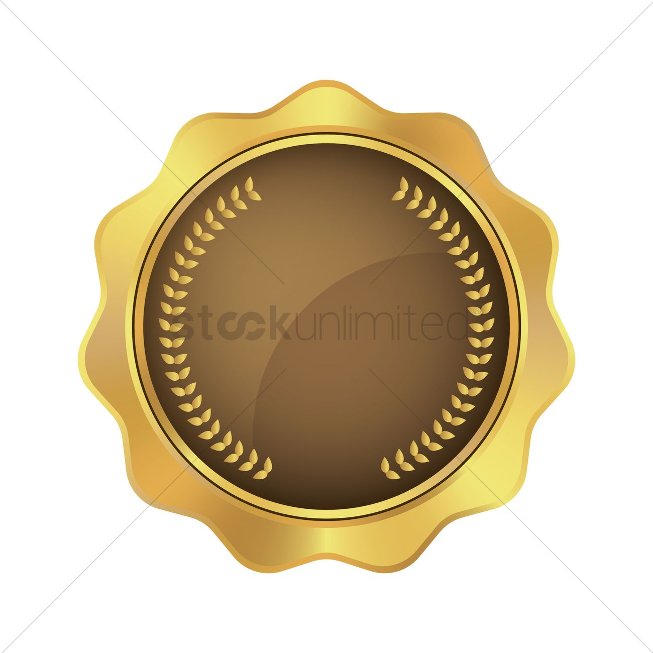 gold badge design vector image - 1959157 | stockunlimited  stockunlimited