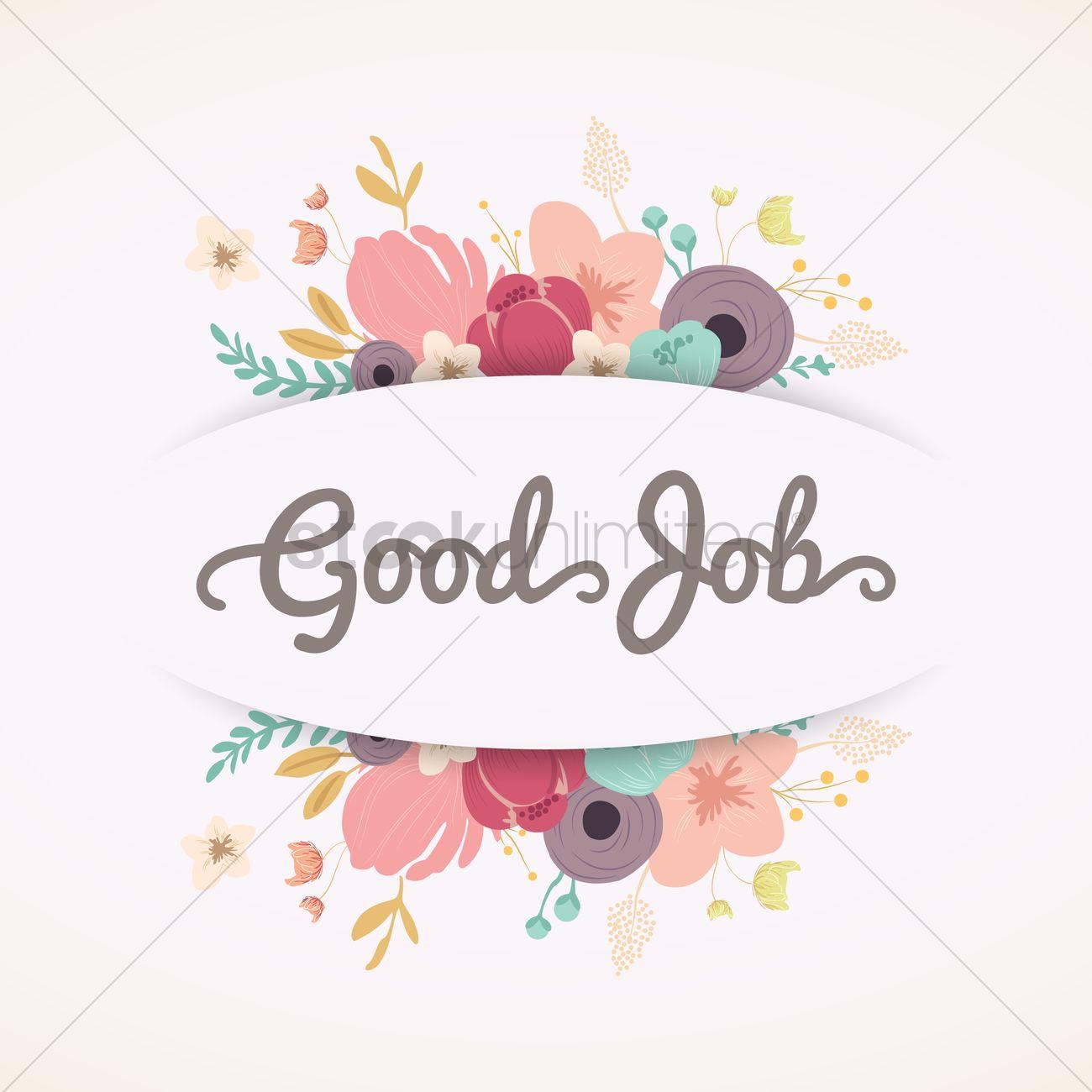 Good Job Greeting Vector Image 1617397 Stockunlimited