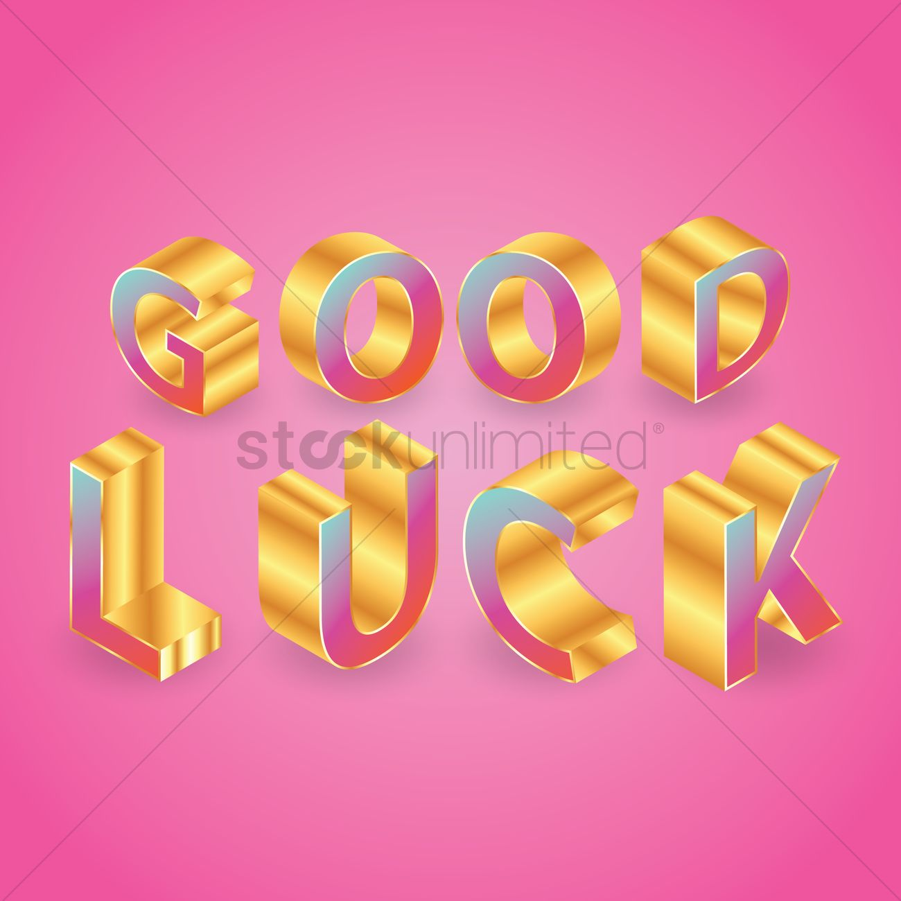 Good luck greeting vector image 1811185 stockunlimited good luck greeting vector graphic kristyandbryce Images