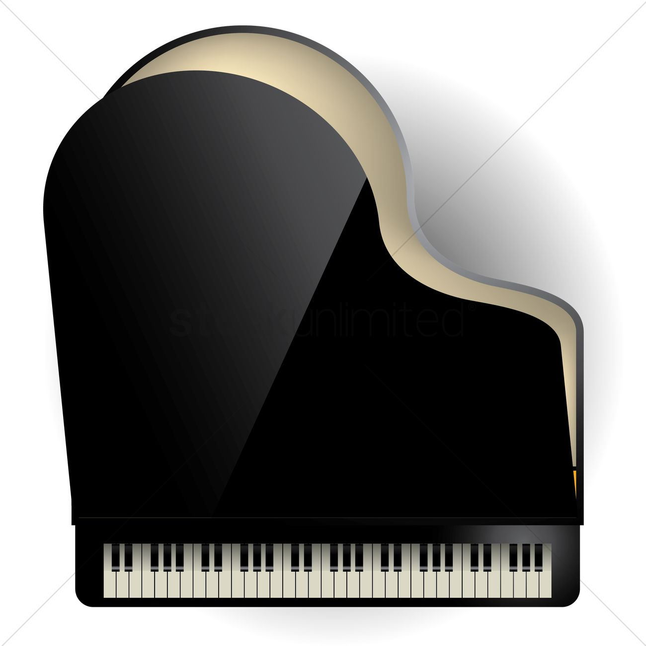 Grand Piano Vector Graphic