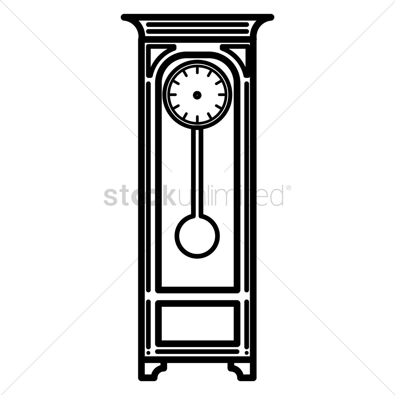 Grandfather clock Vector Image - 1348593 | StockUnlimited