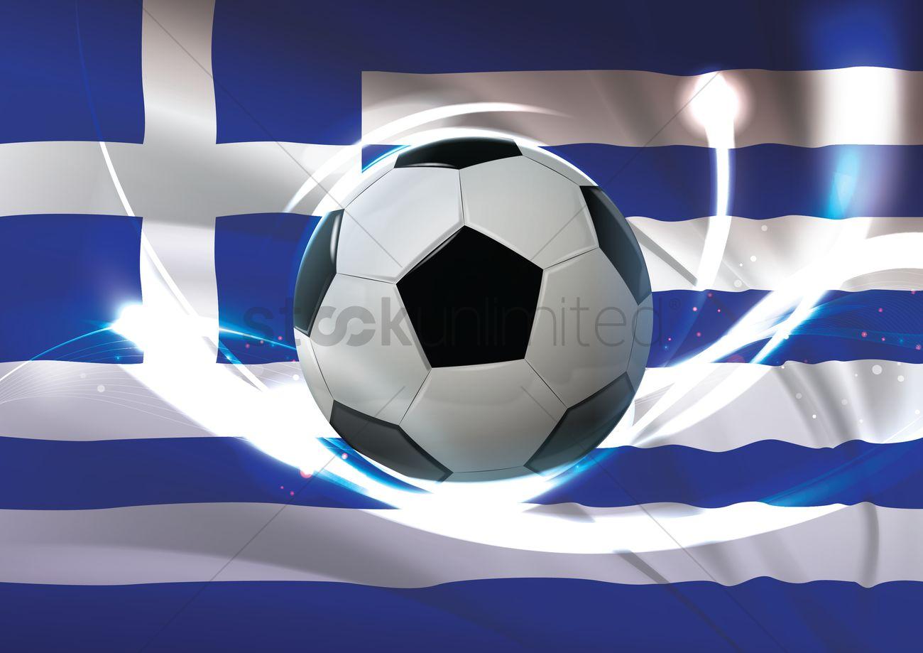 Greece flag with soccer ball Vector Image - 1741109  ce524765ac