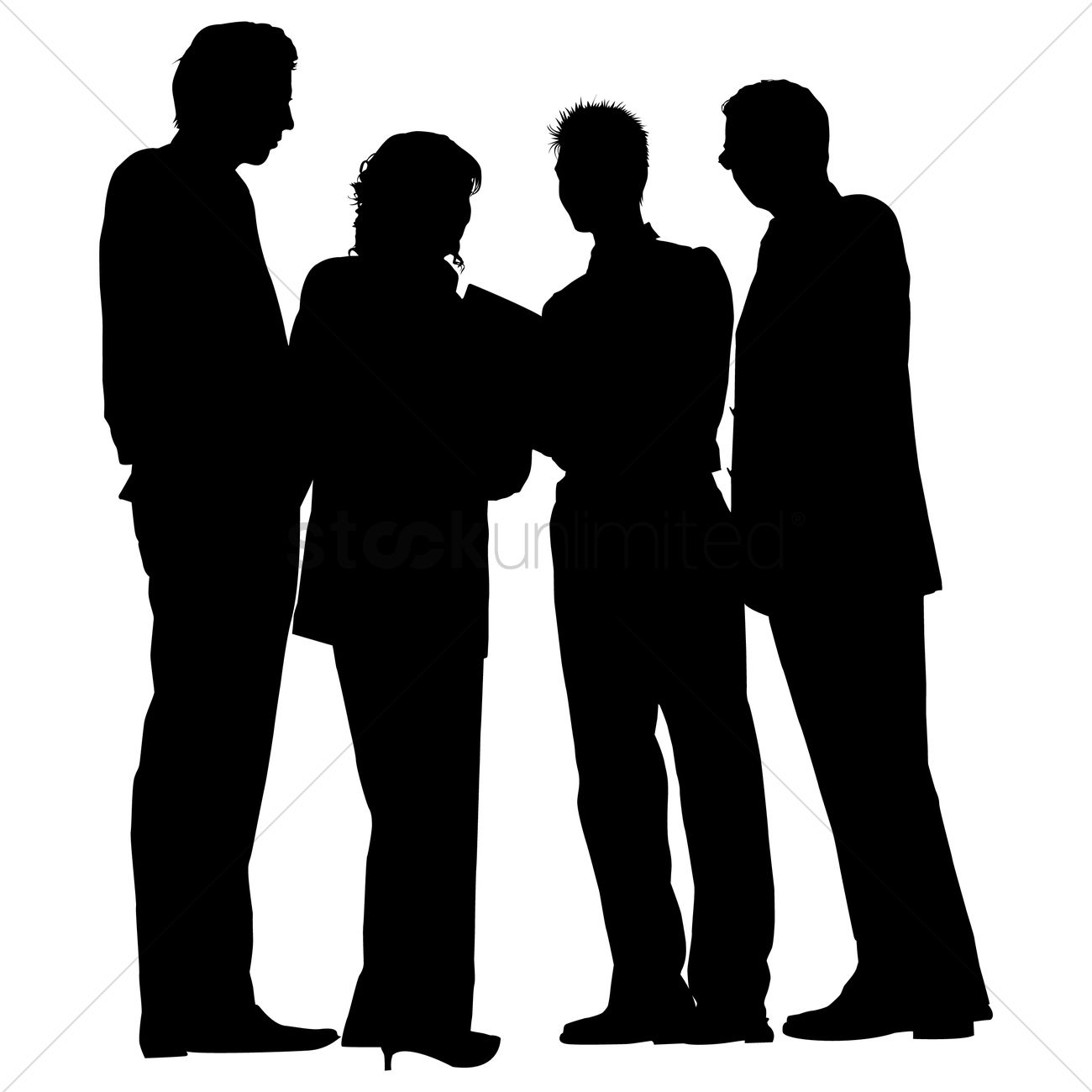 Group of business people standing silhouette Vector Image ... for Business People Silhouette Png  584dqh