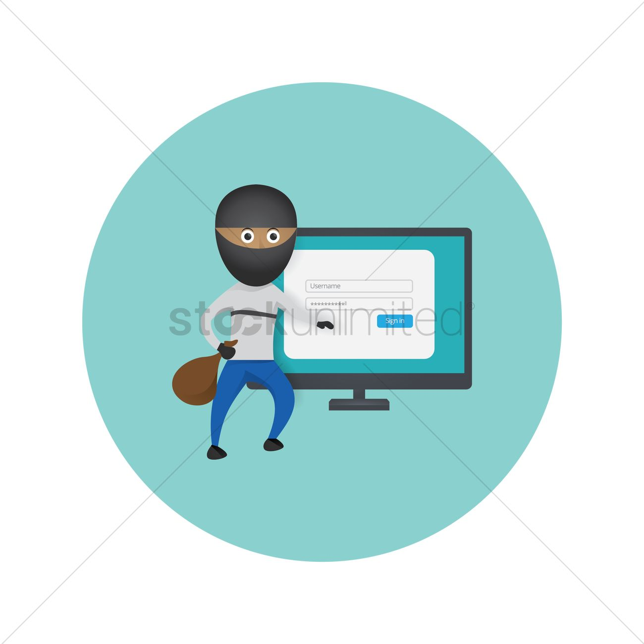 Hacker icon Vector Image - 1602913 | StockUnlimited