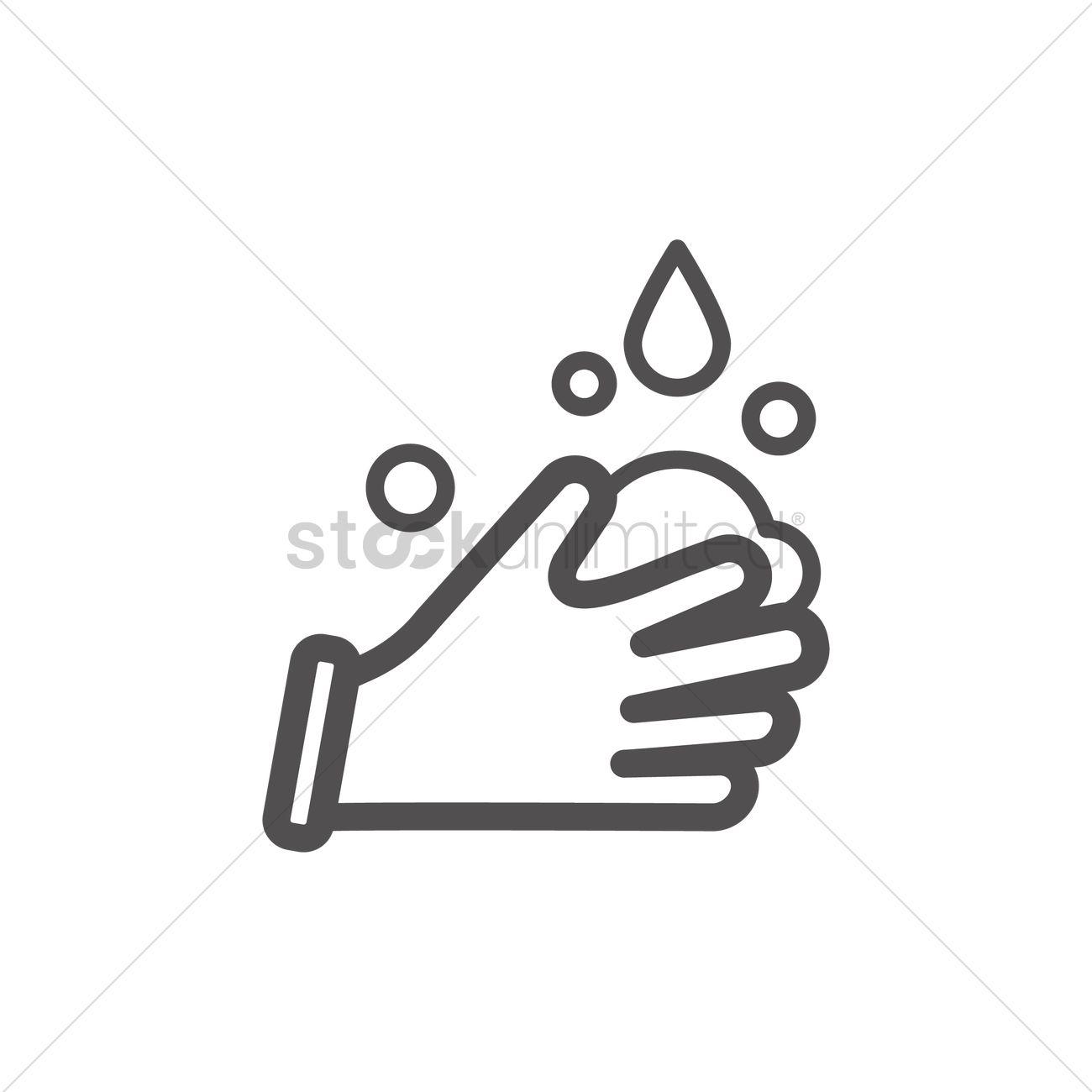 Hand wash icon vector image 1999093 stockunlimited hand wash icon vector graphic buycottarizona Image collections