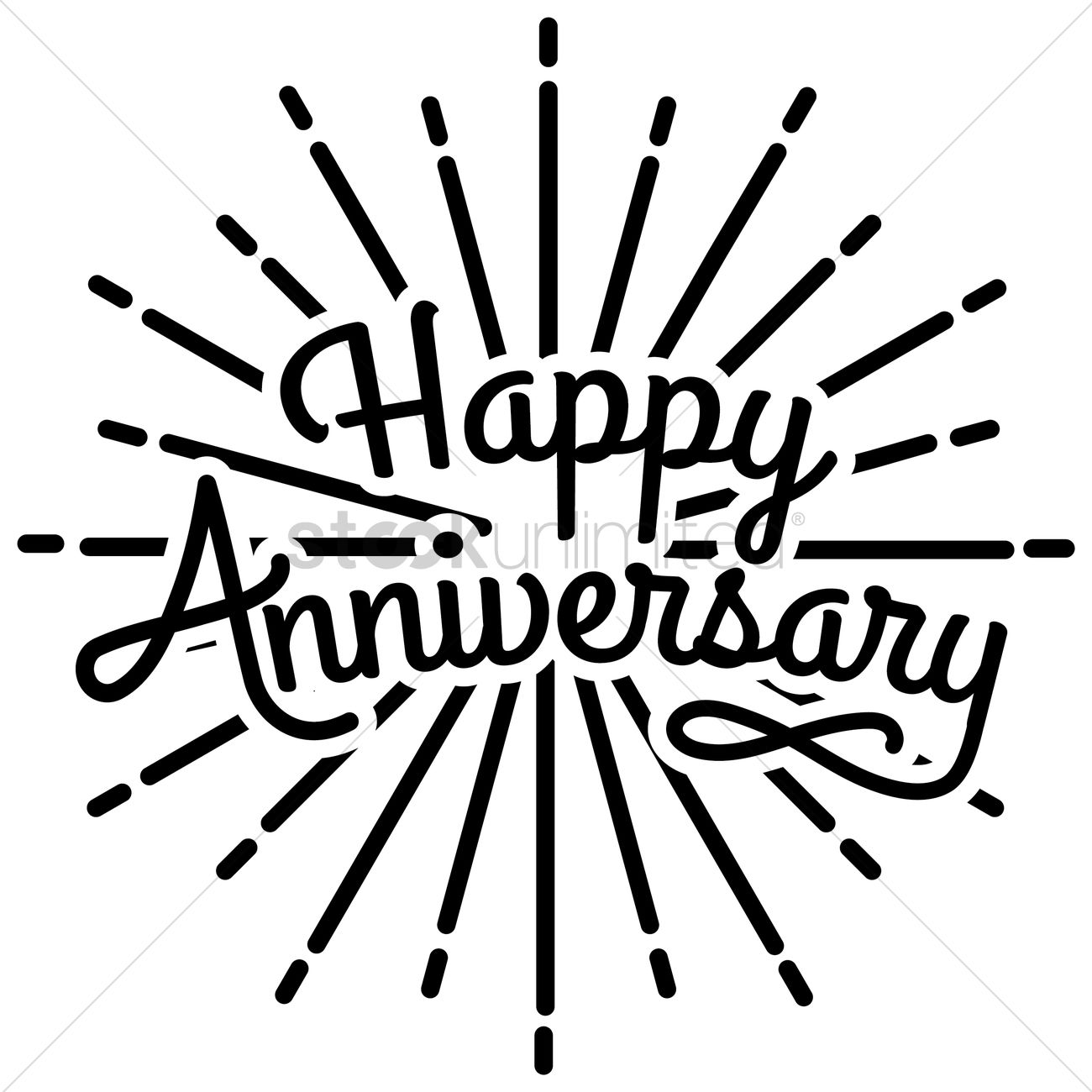 Happy anniversary greeting text vector image 1524969 stockunlimited happy anniversary greeting text vector graphic kristyandbryce Choice Image
