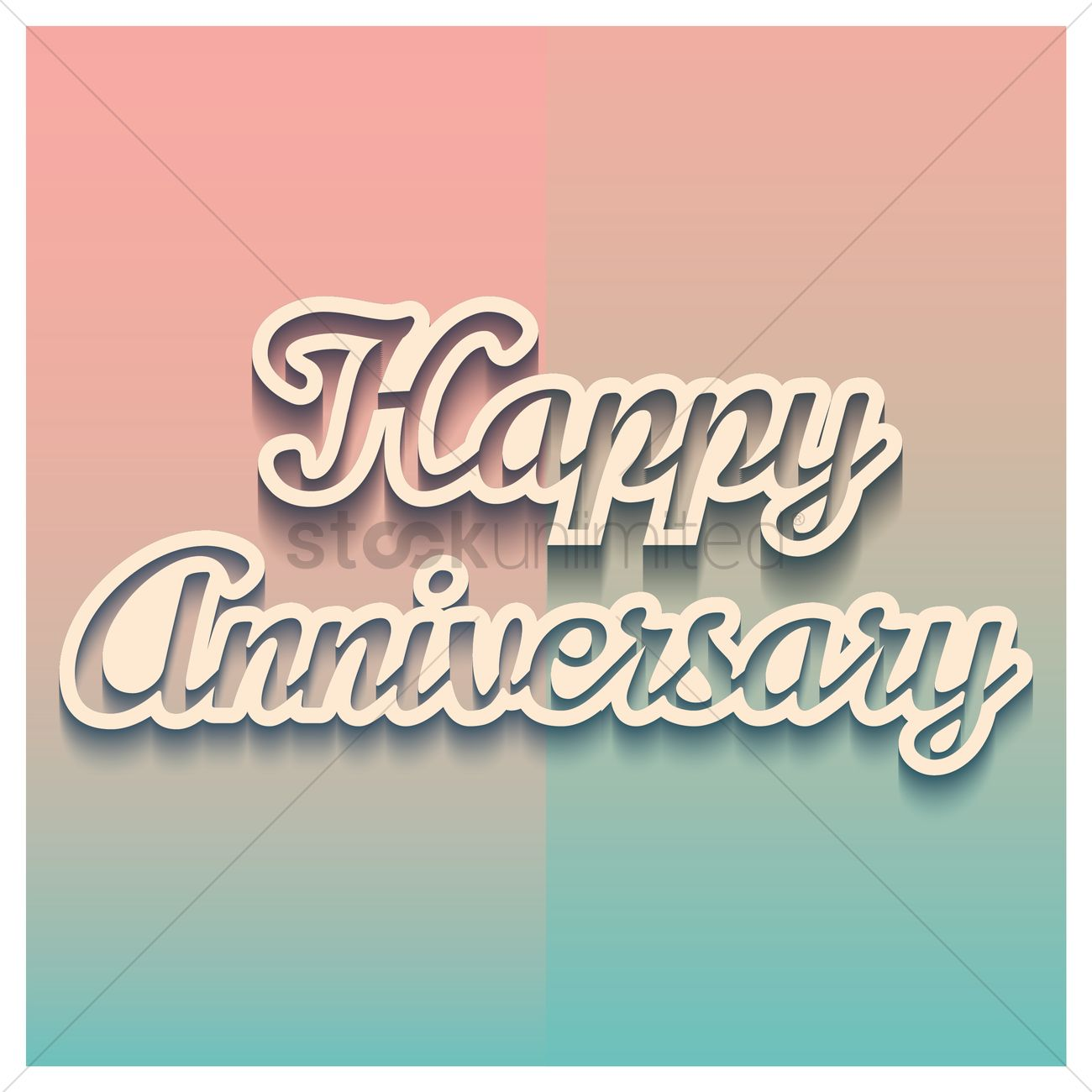 Happy Anniversary Greeting Vector Image 1811117 Stockunlimited