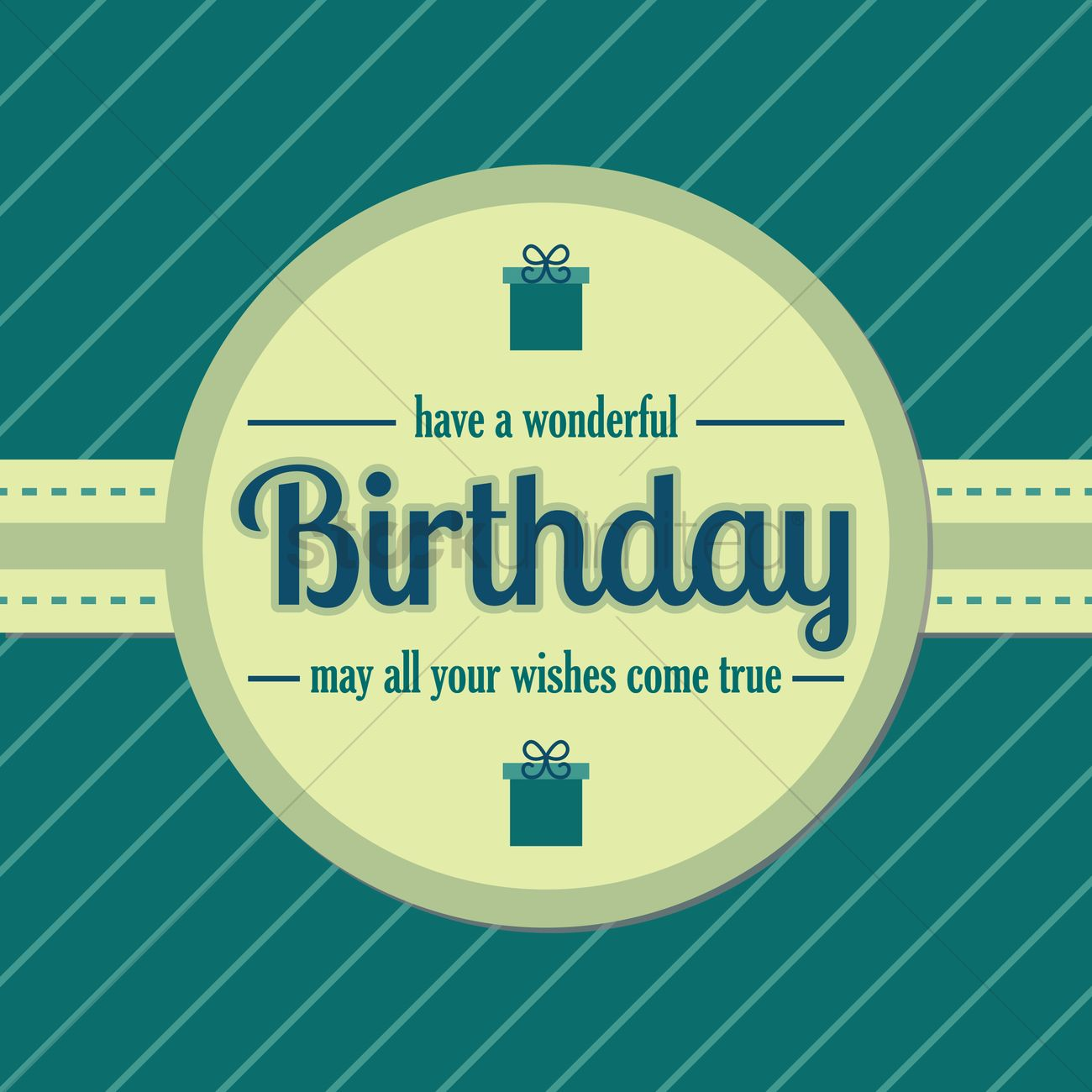 Happy Birthday Wishes Vector Image 1791457 Stockunlimited