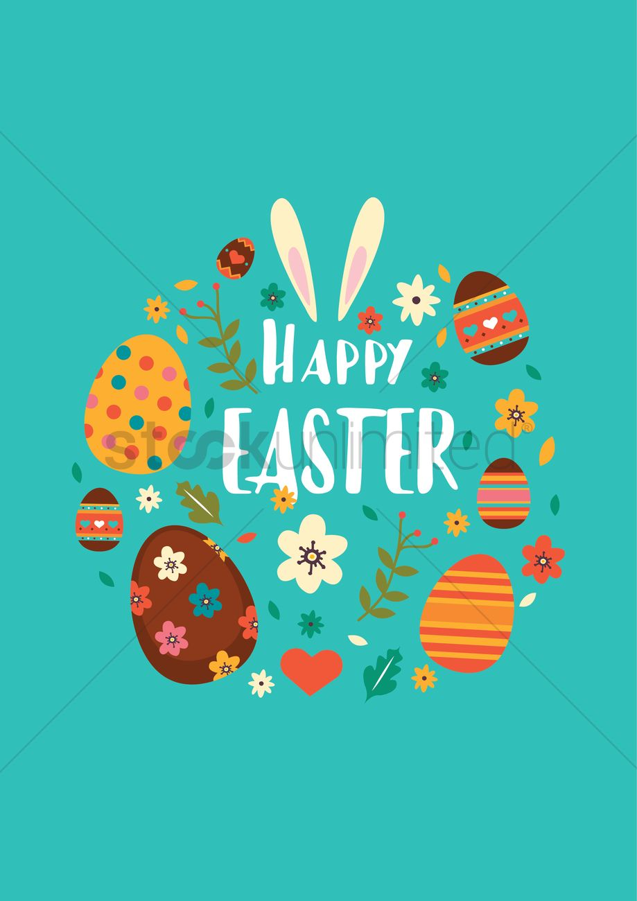 Happy easter design Vector Image - 2000021   StockUnlimited