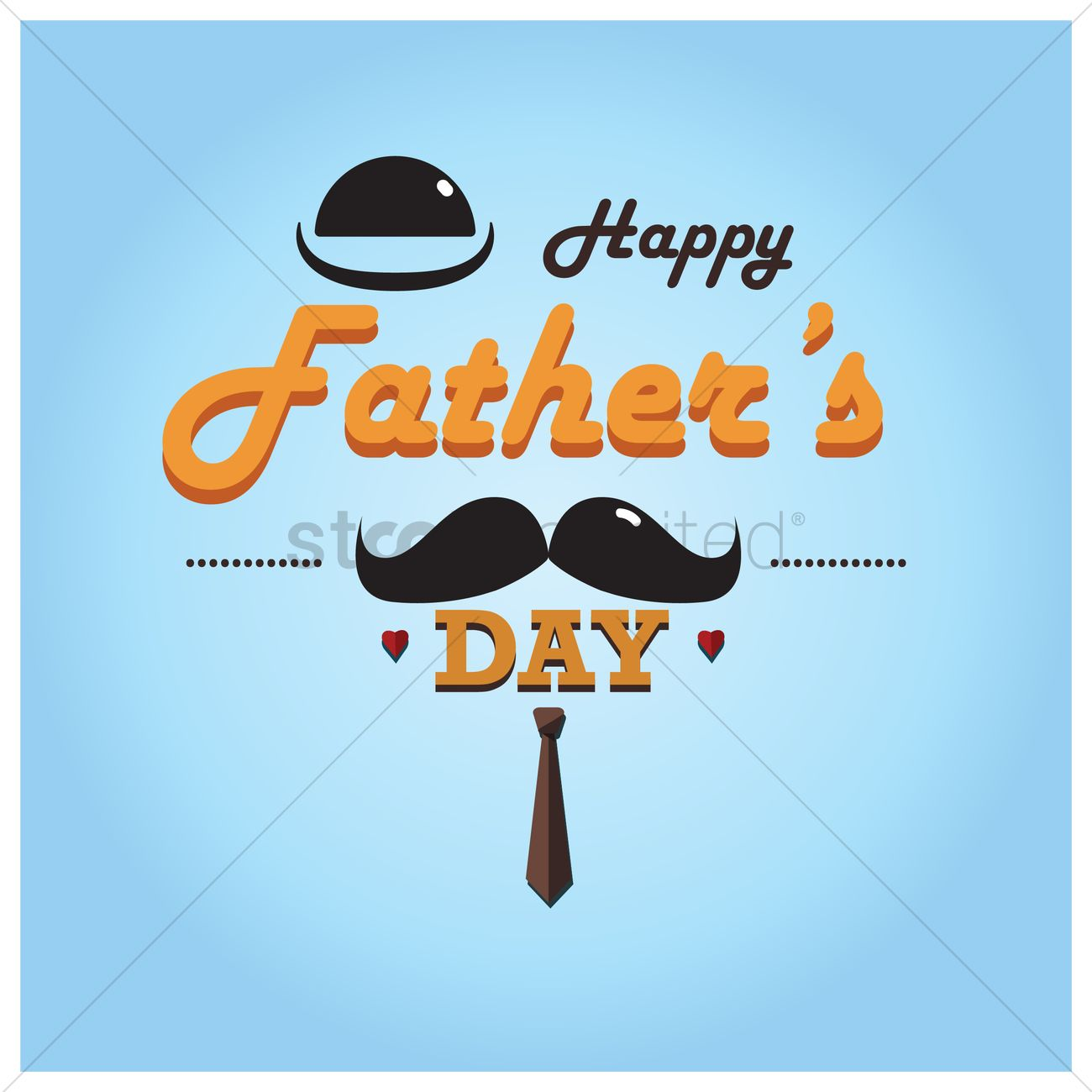 Happy Fathers Day Wallpaper Vector Image 1585481