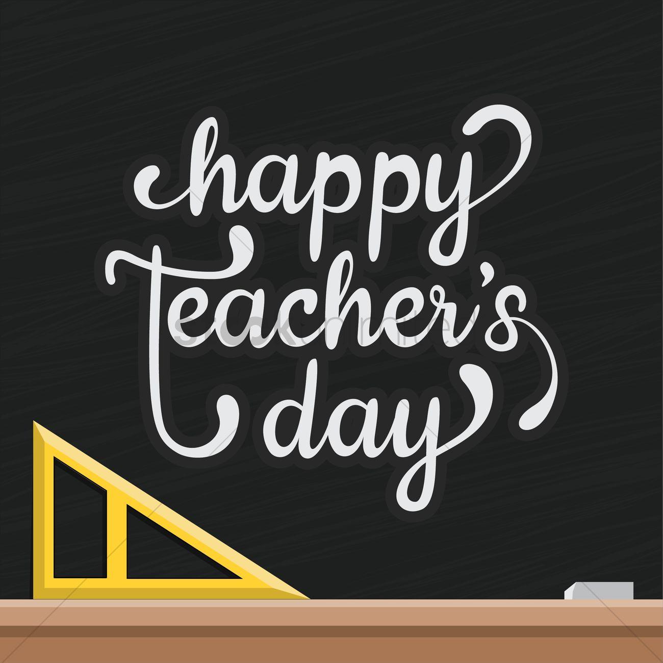 happy teacher's day design vector image  2007137