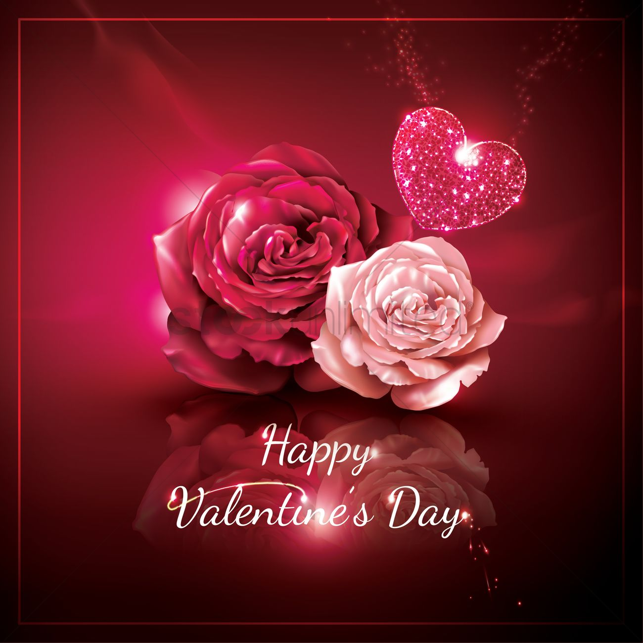 happy valentines day greeting vector graphic - Happy Valentines Day Wishes
