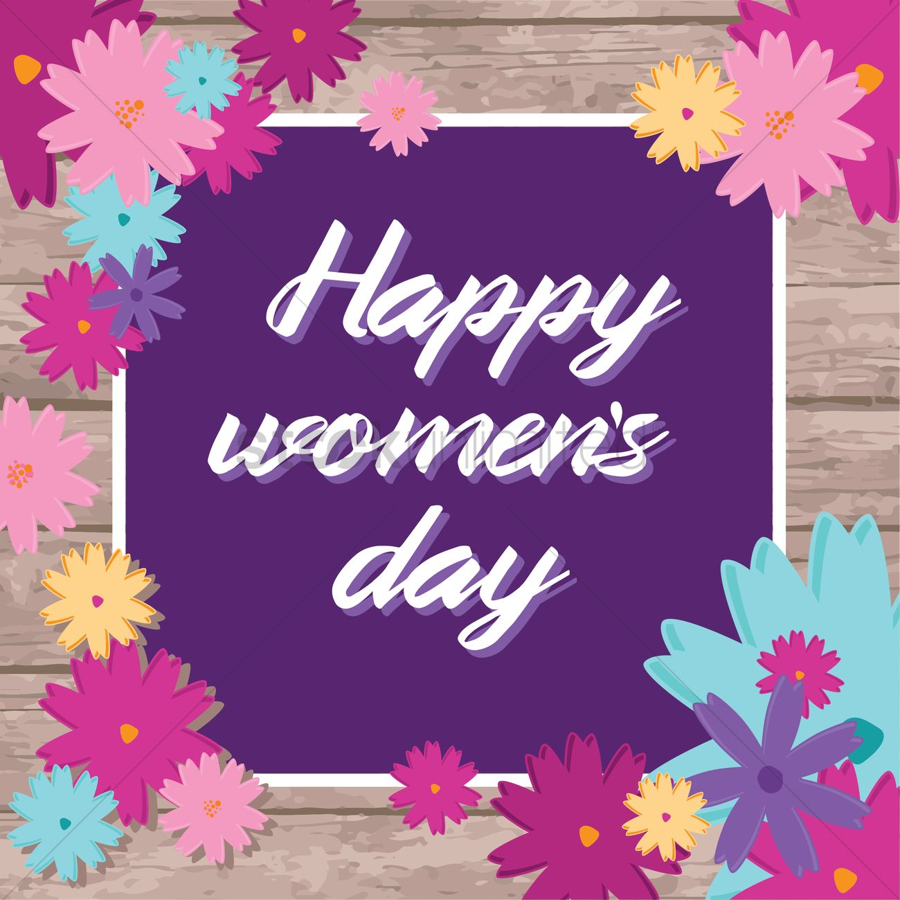 Happy Womens Day Design Vector Image 1990149 Stockunlimited