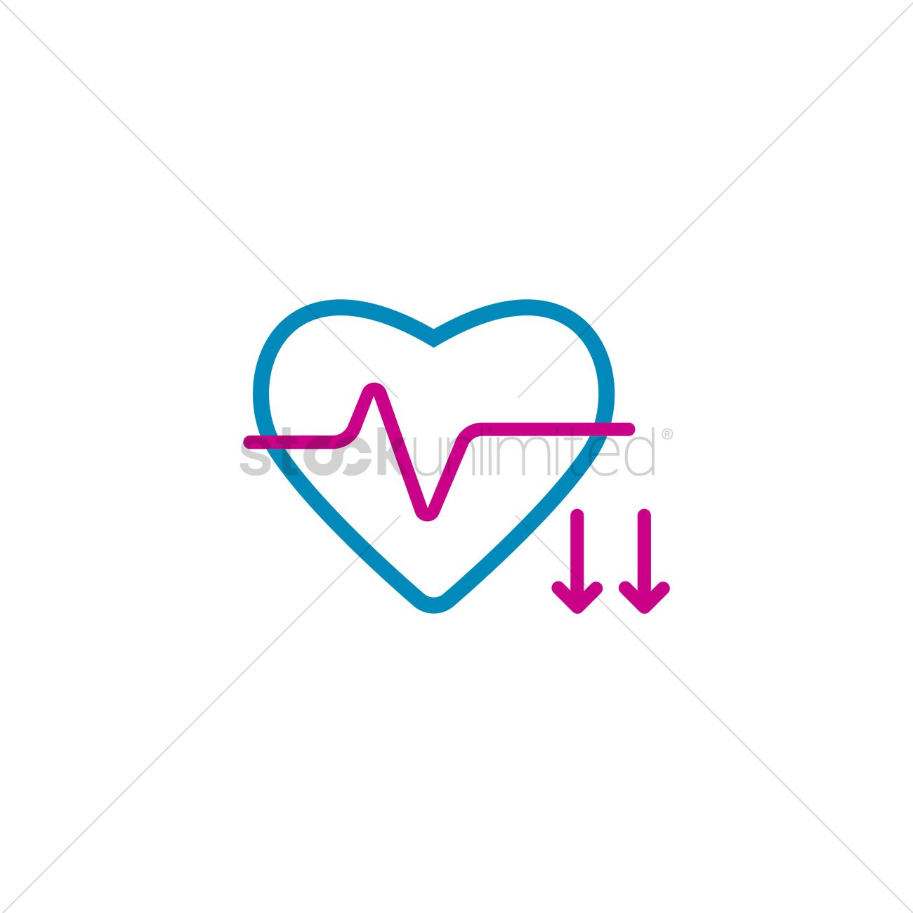 Heart rate decrease Vector Image - 2008789 | StockUnlimited