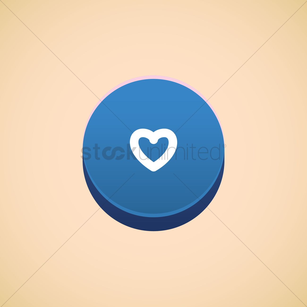 Heart shaped button Vector Image - 1372077 | StockUnlimited