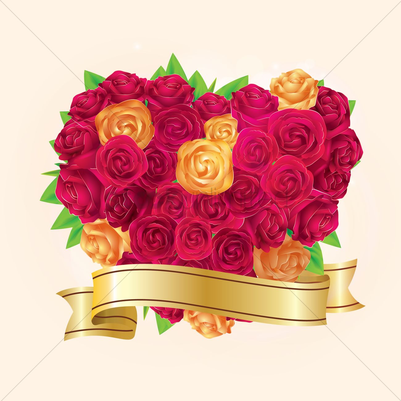 Heart shaped rose bouquet Vector Image - 1810569 | StockUnlimited