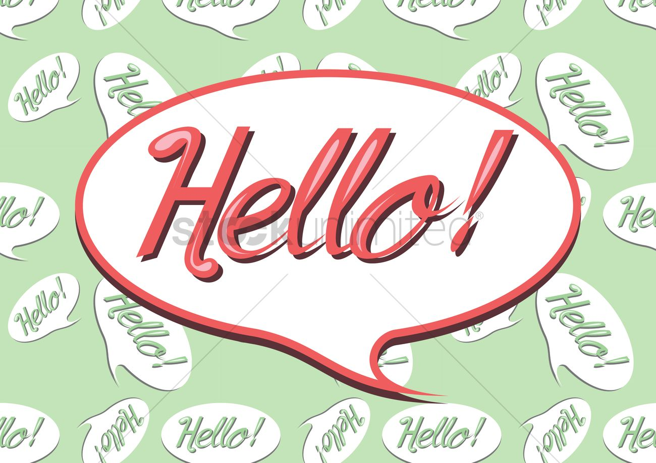 Hello Greeting In A Speech Bubble Vector Image 1397537
