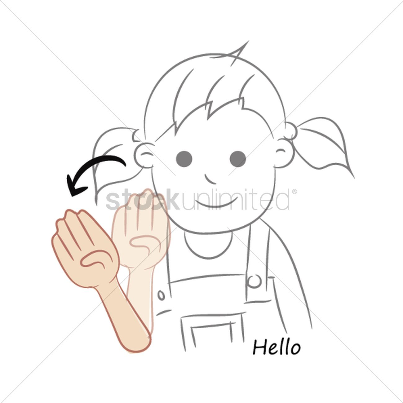 Hello In Sign Language Vector Image 2034145 Stockunlimited