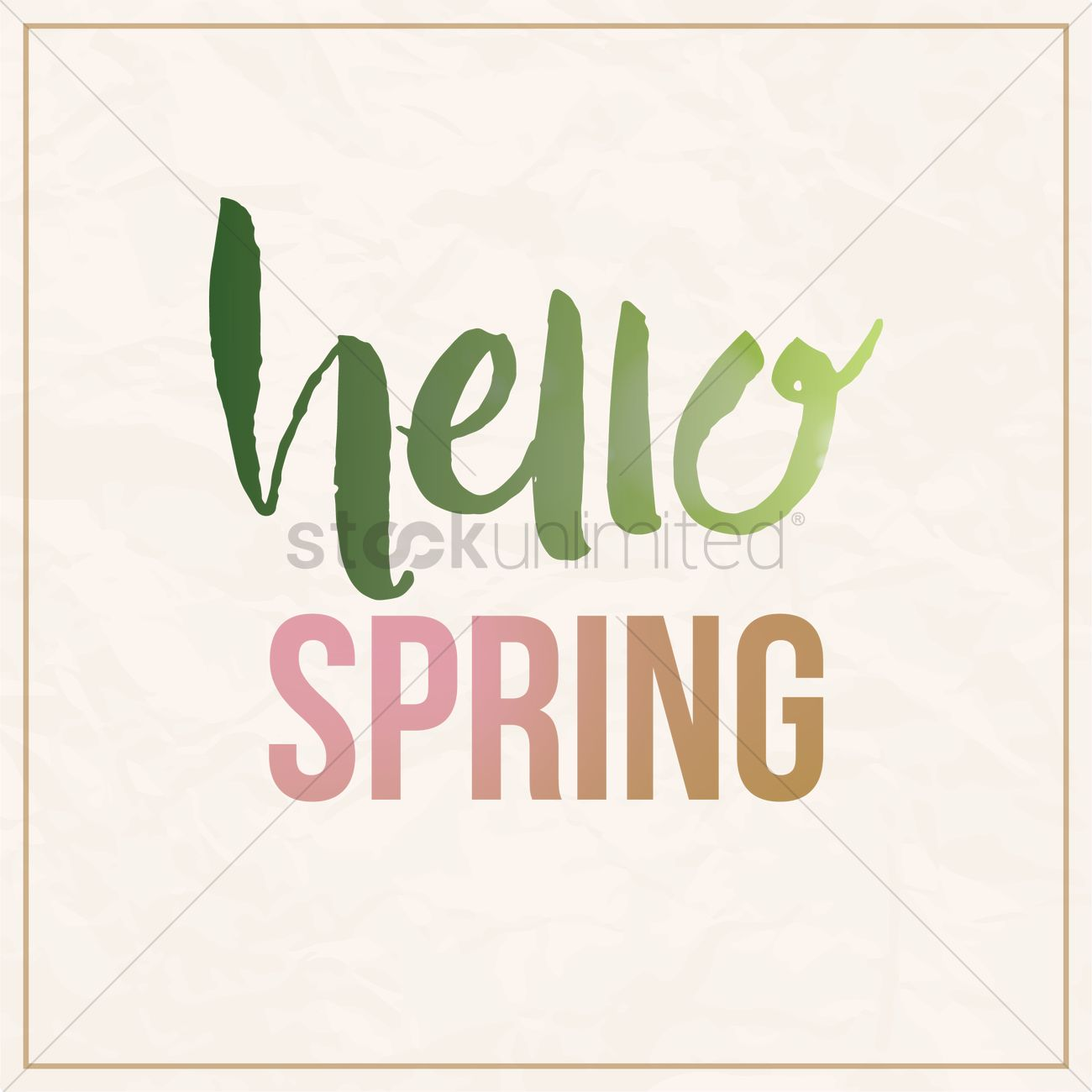 Charmant Hello Spring Card Design Vector Graphic