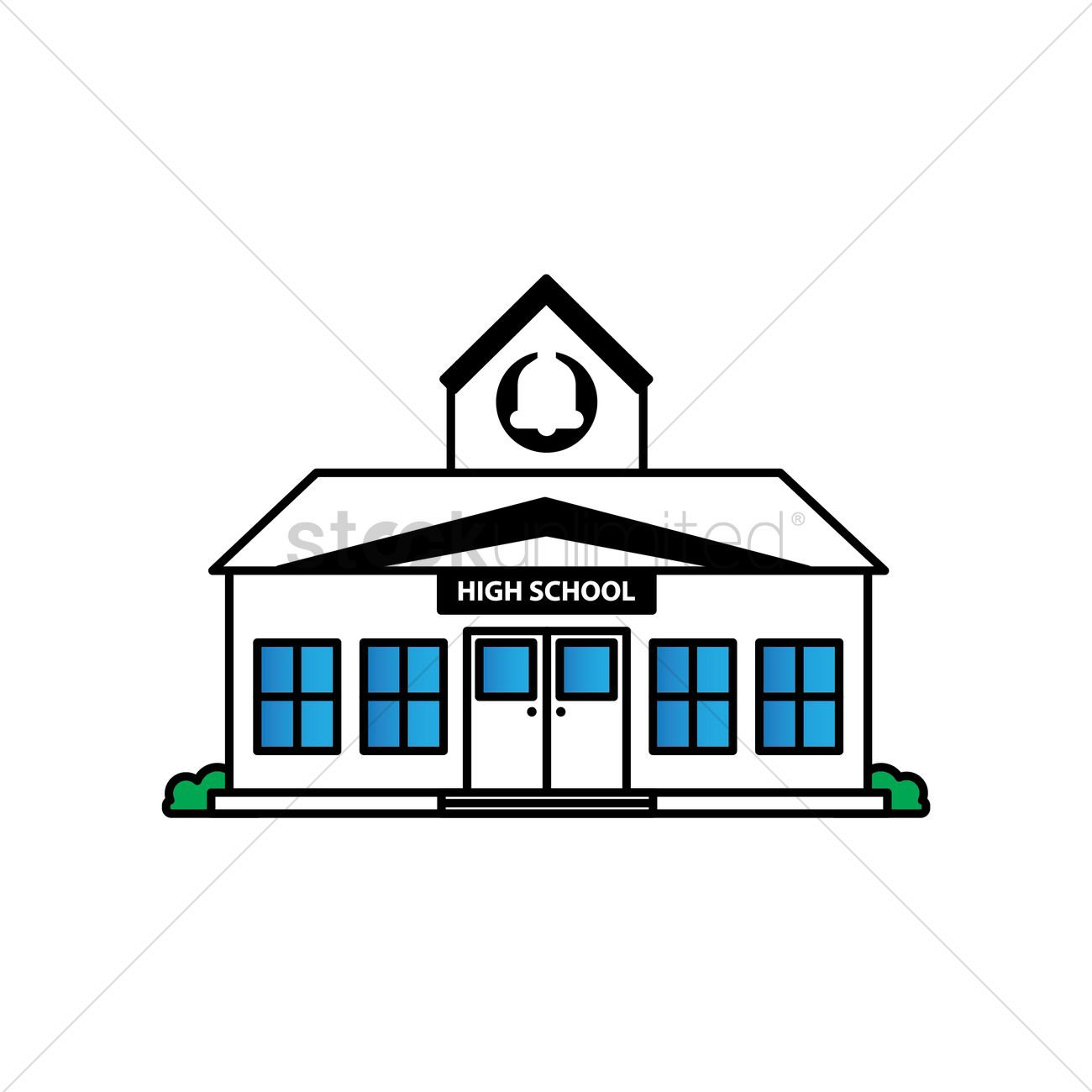 free high school building vector image 1623541 stockunlimited rh stockunlimited com building victorian corner shelf building vector png