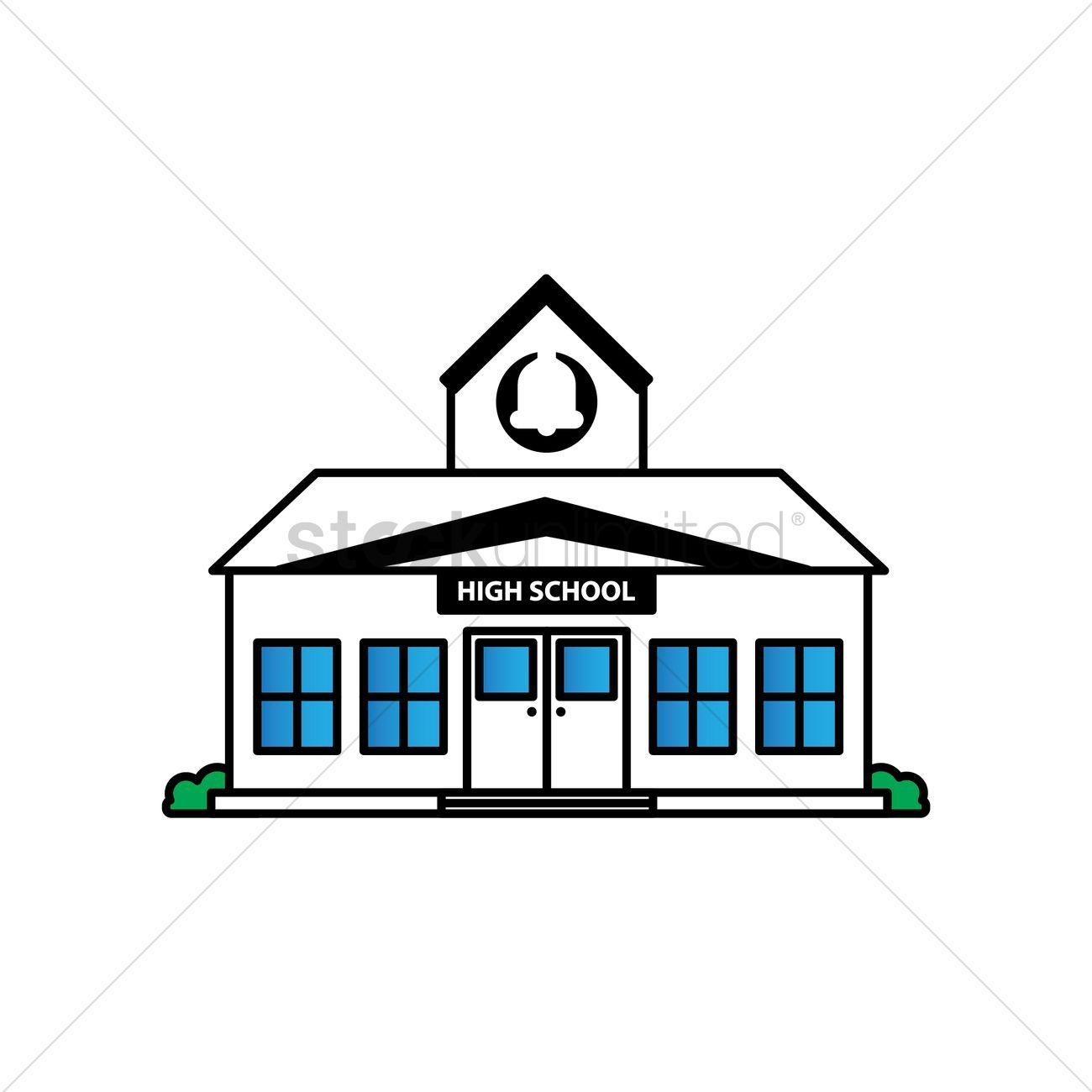 free high school building vector image 1623541 stockunlimited rh stockunlimited com vector building arma 3 vector building plan