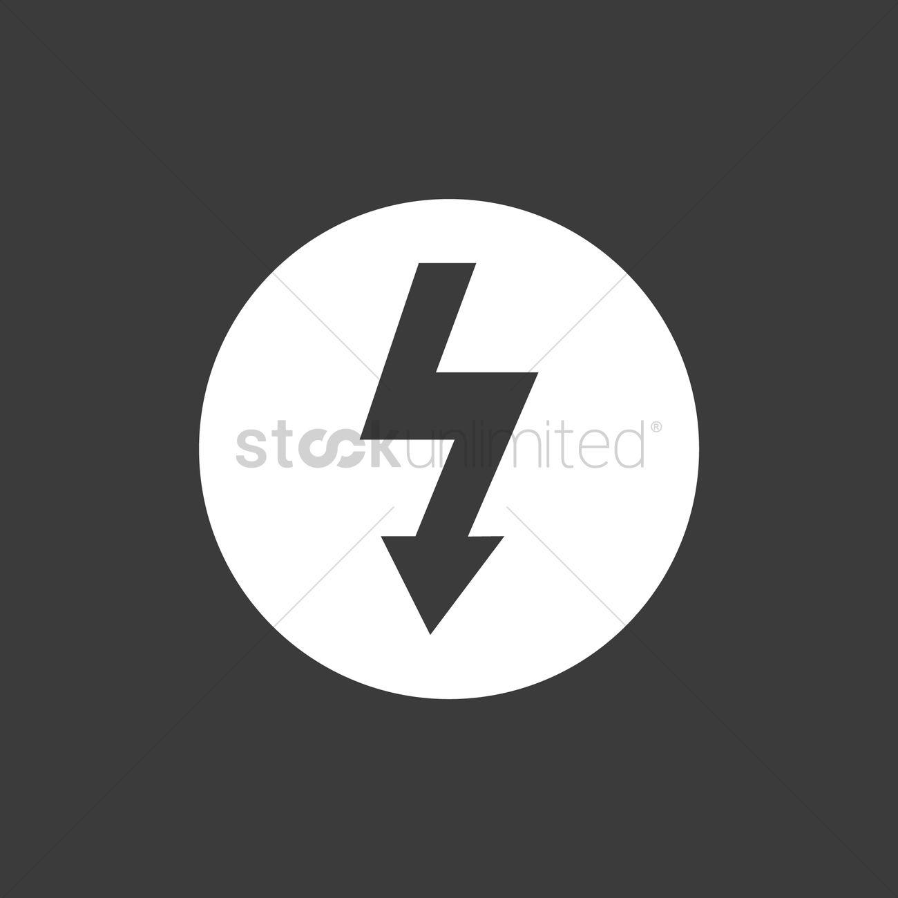 High voltage symbol vector image 2029537 stockunlimited high voltage symbol vector graphic buycottarizona