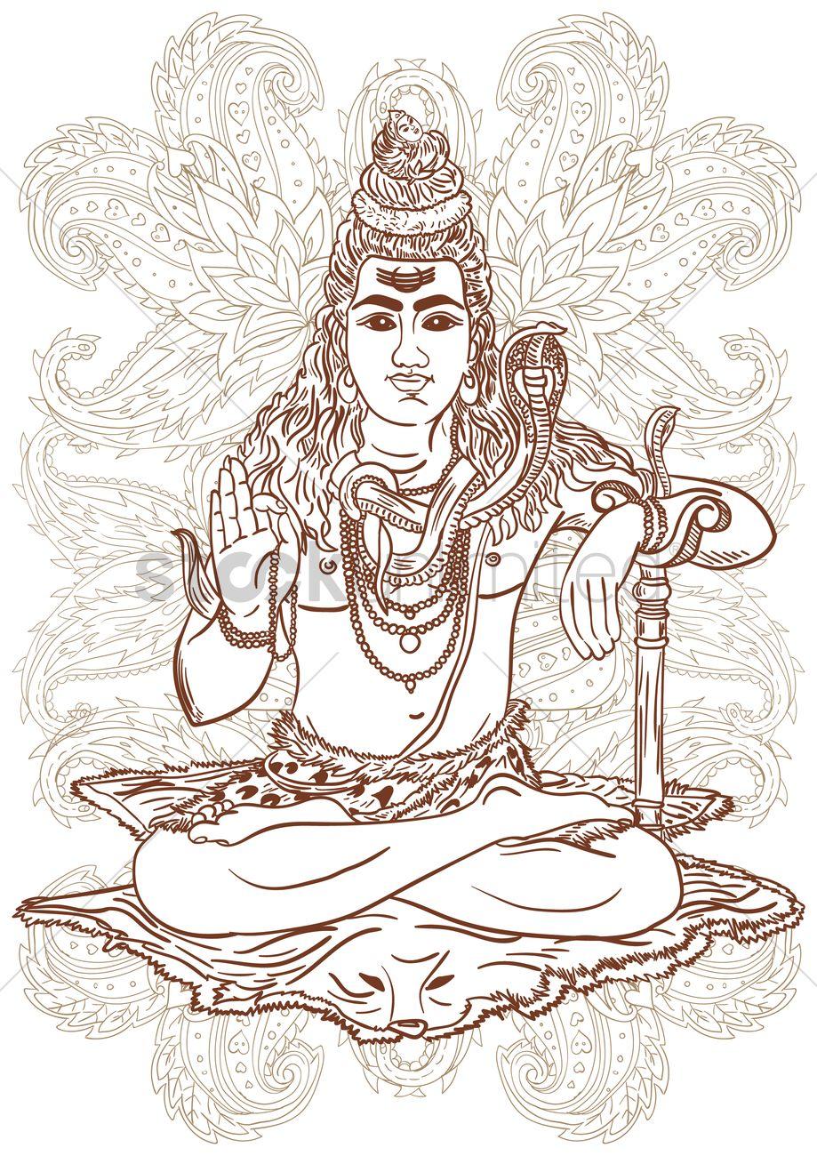 Hindu deity design Vector Image - 1969085 | StockUnlimited