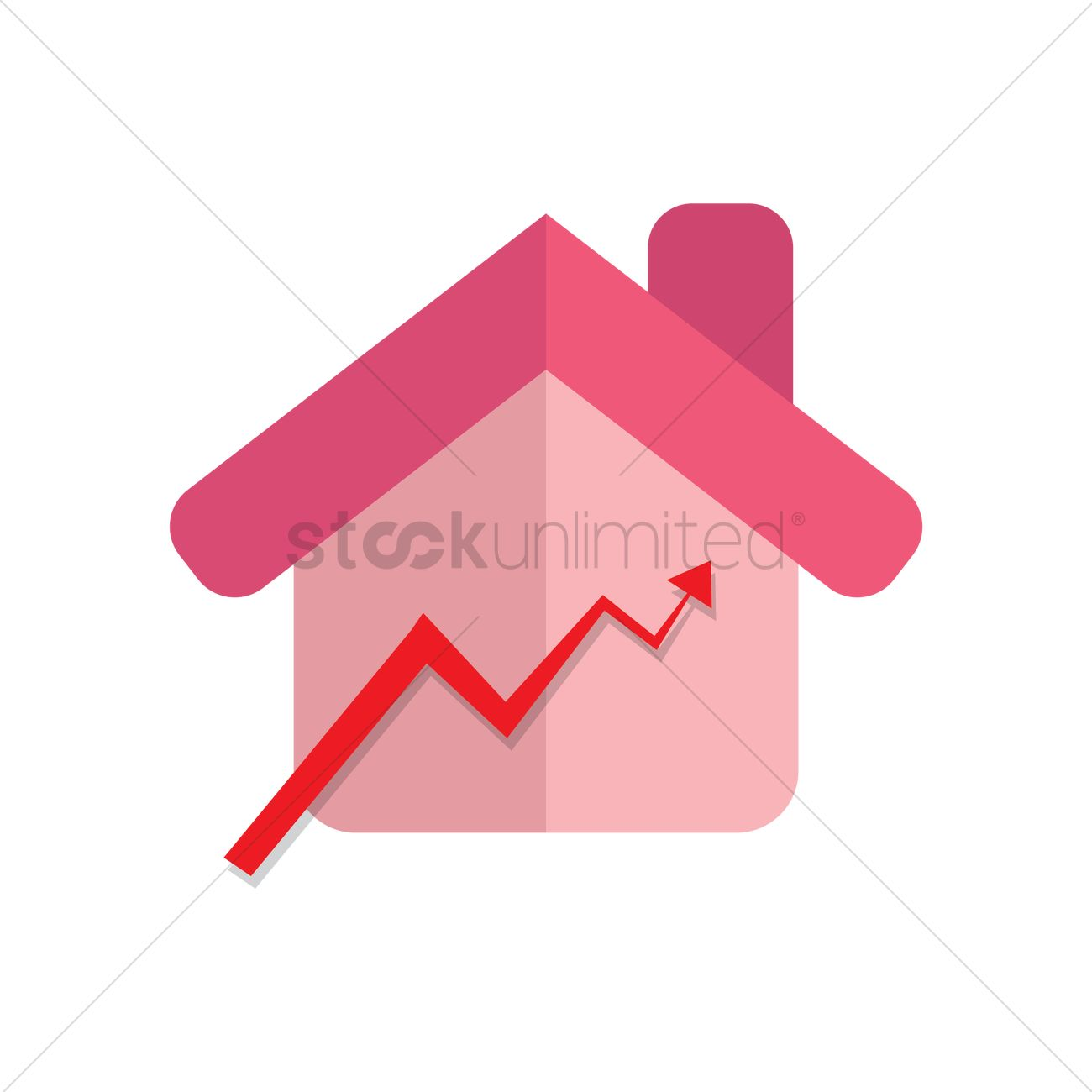 House Price On Raise Vector Graphic