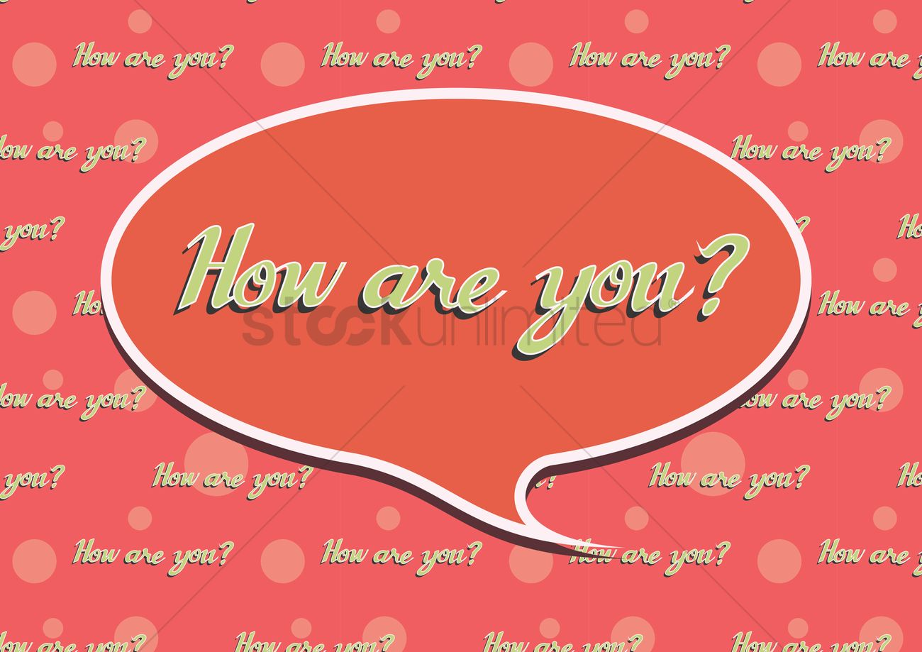How Are You Greeting In A Speech Bubble Vector Image 1397473