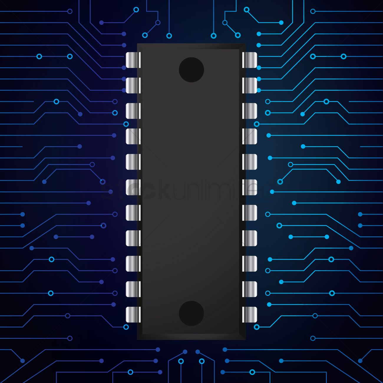 Circuit Pattern Wallpaper Evil Robot Board Black And Blue Green Picture Frame By Robyriker Ic On Vector Image 1807581 Stockunlimited