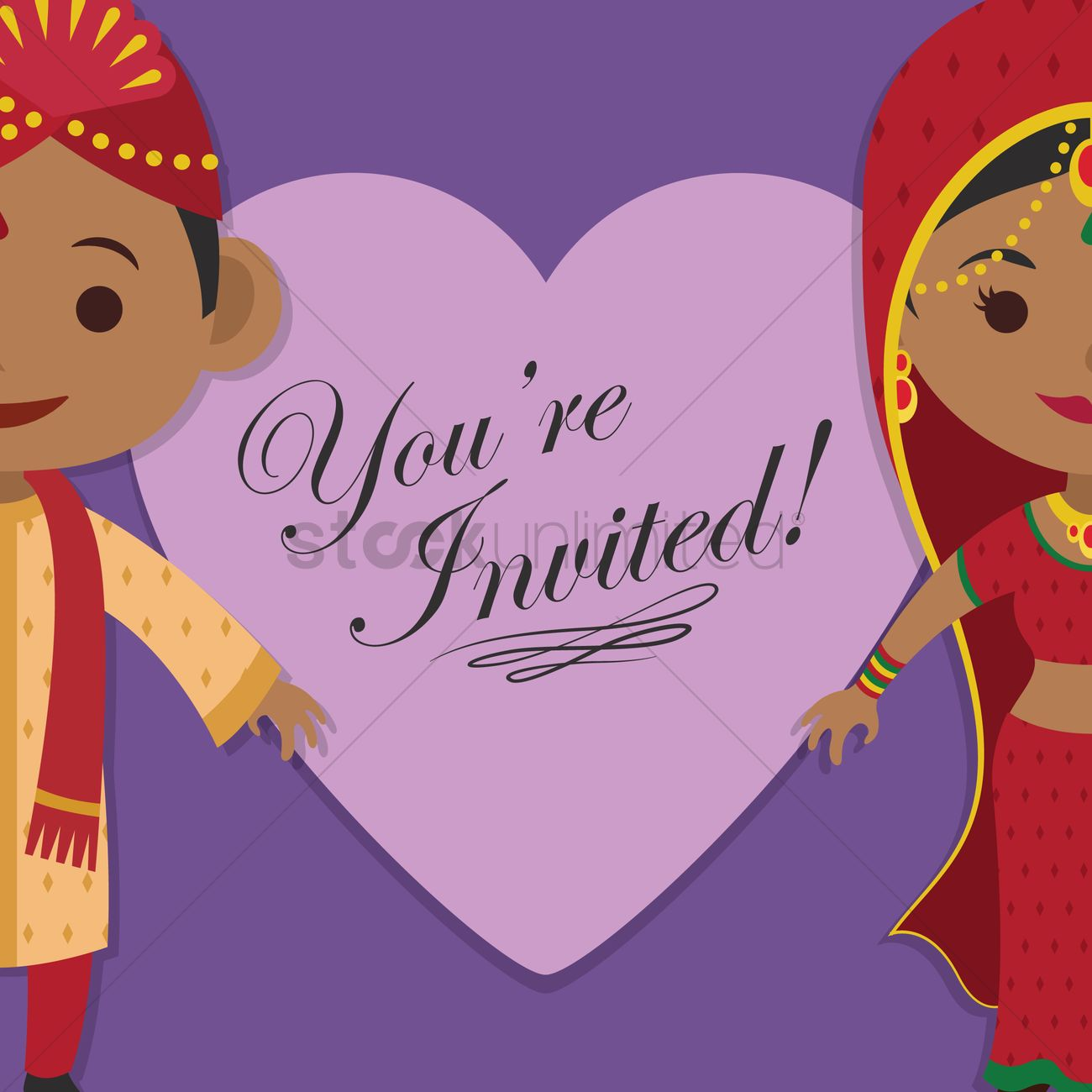 Indian wedding invitation vector image 1244217 stockunlimited indian wedding invitation vector graphic stopboris Image collections