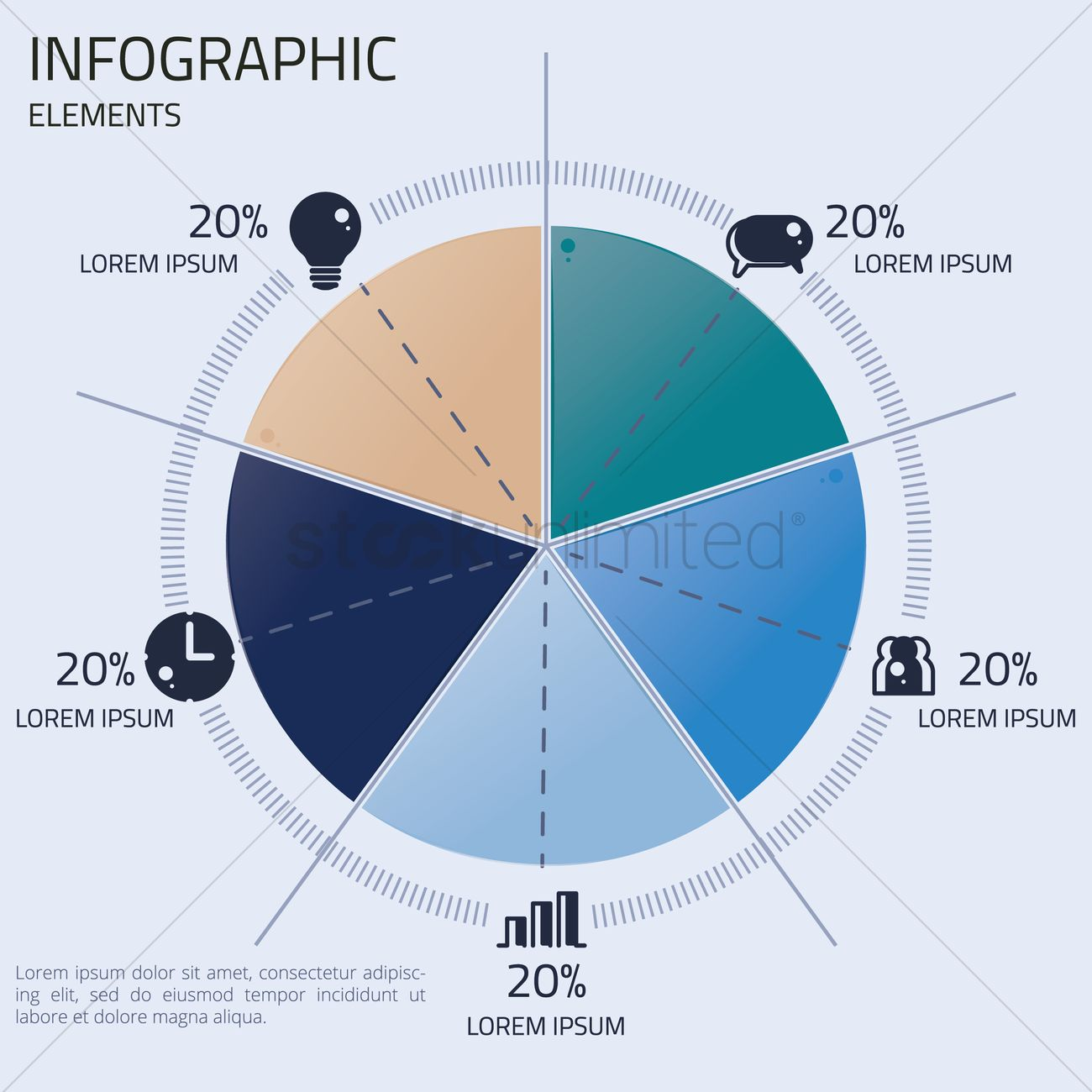 Infographic Pie Chart Design Vector Image 2000173 Stockunlimited