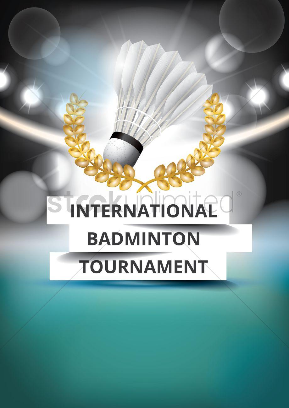 international badminton tournament poster design vector