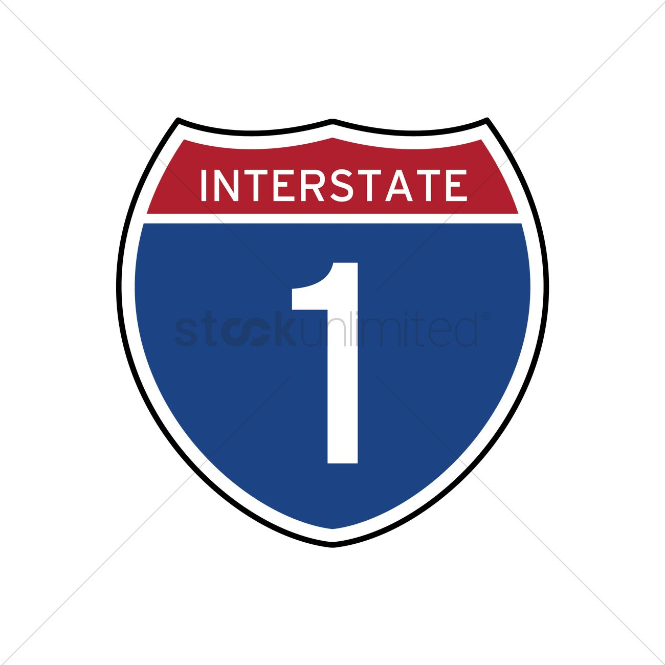 interstate 1 route sign vector image 1556101 stockunlimited rh stockunlimited com road sign vector vector signboard free download