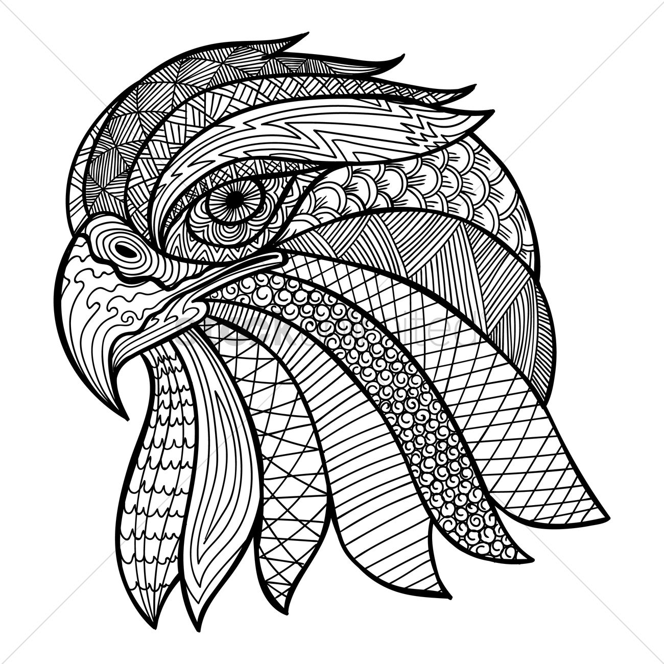 Intricate Eagle Design Vector Image