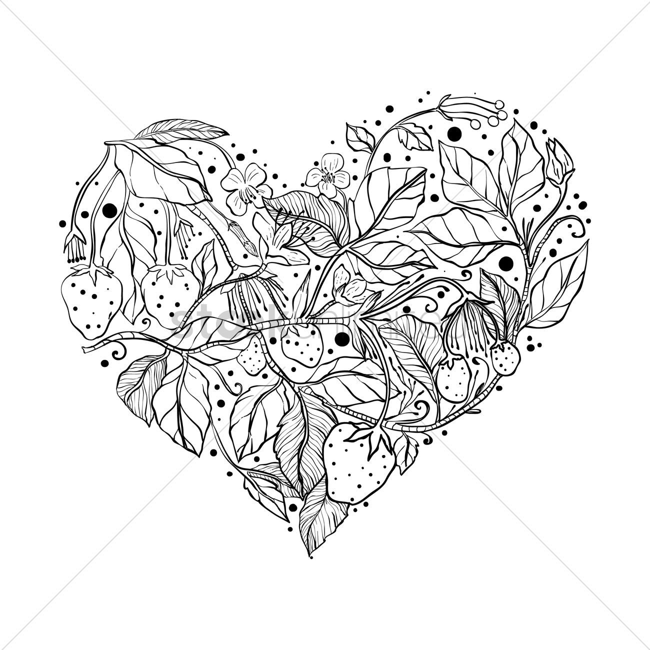 Intricate Heart Design Vector Image 1998429 Stockunlimited
