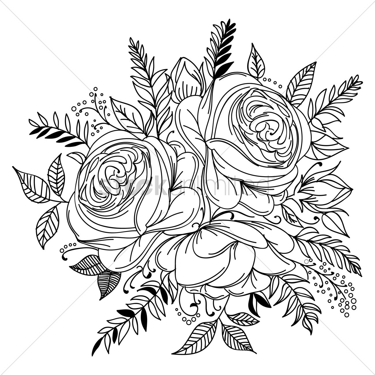 Intricate Sunflower Design Vector Graphic