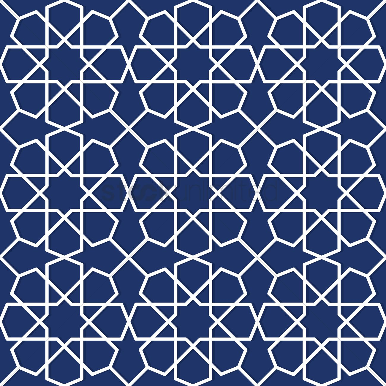 Islamic geometric pattern design Vector Image - 1979669