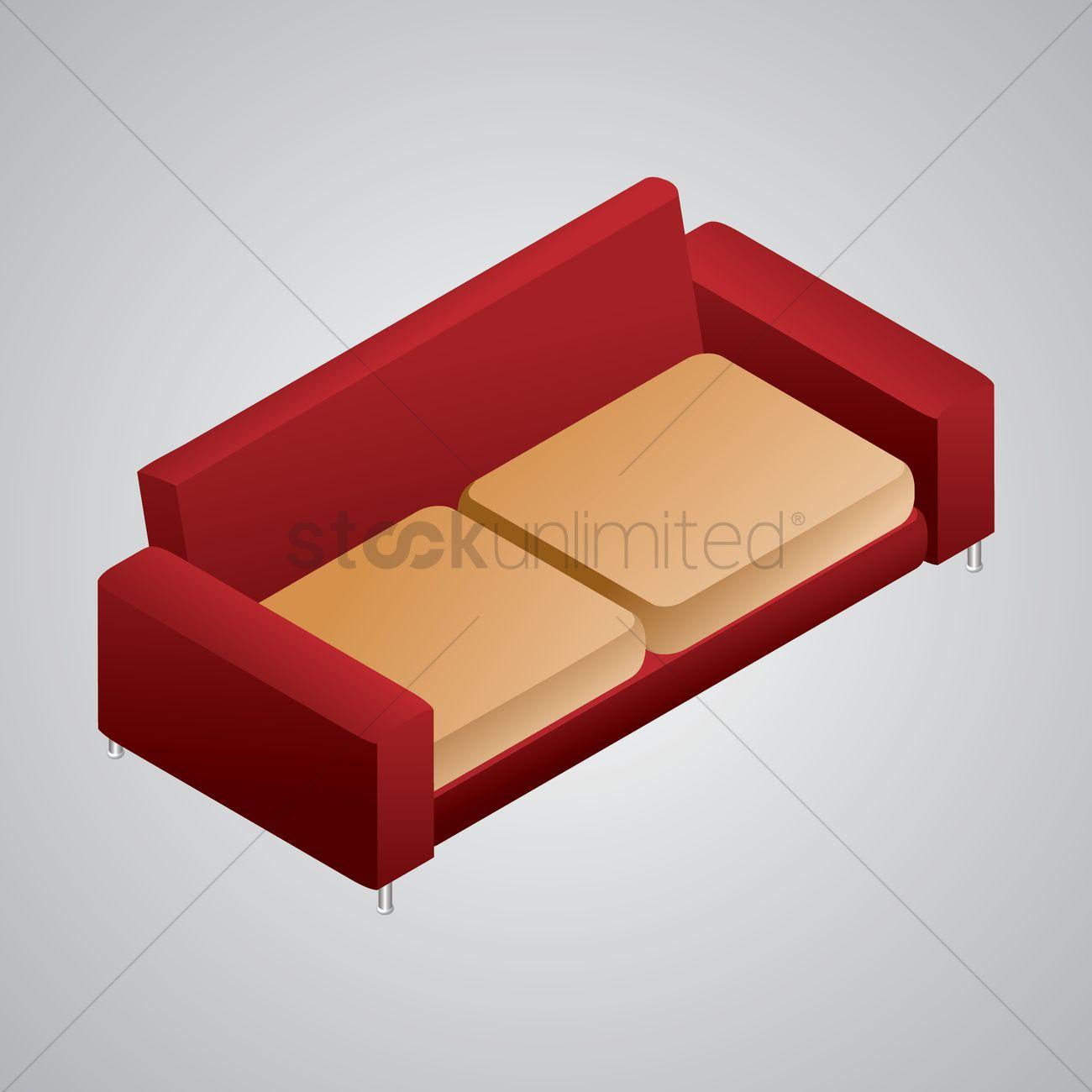 Isometric Sofa Vector Image 1608133 Stockunlimited