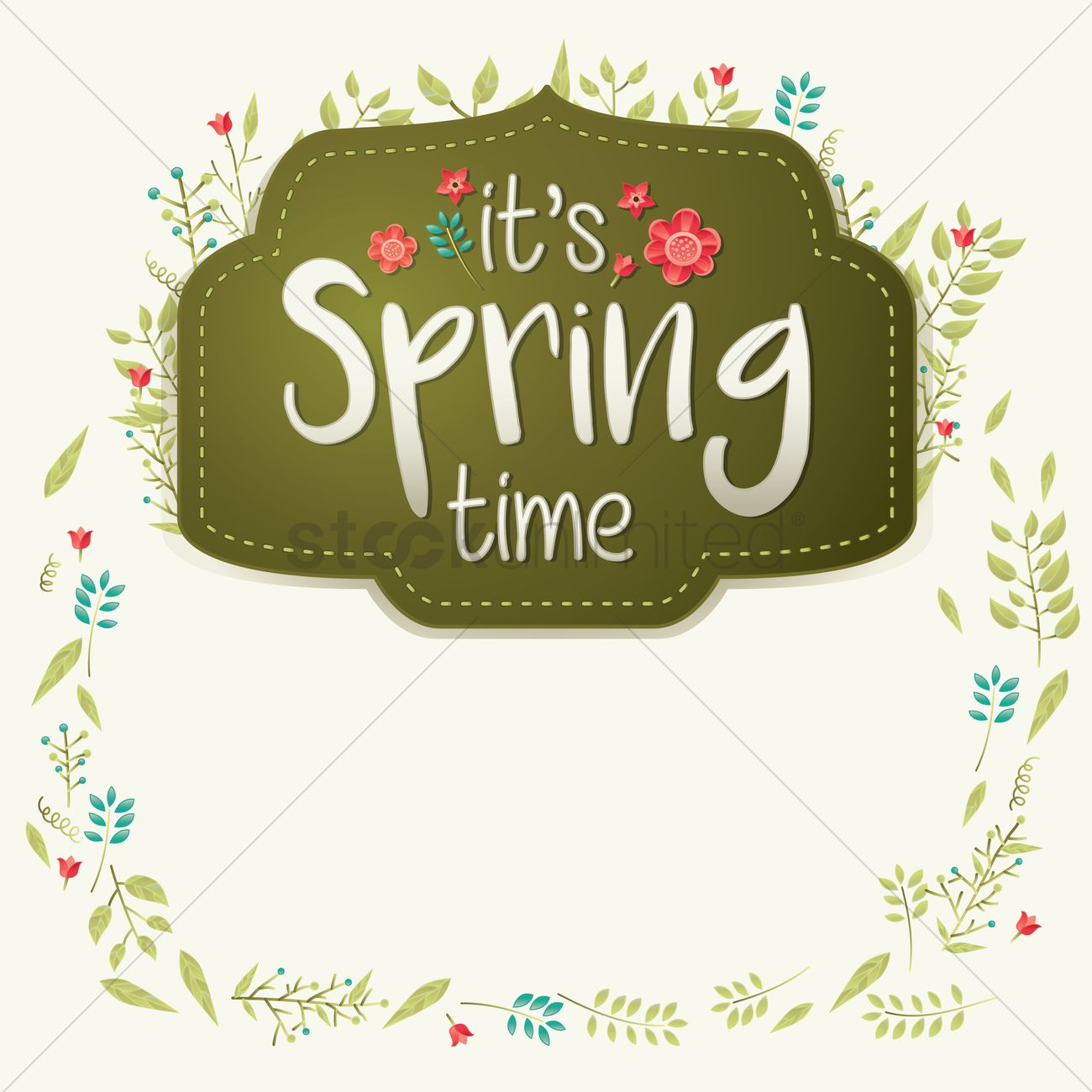 Its Spring Time Card Design Vector Graphic
