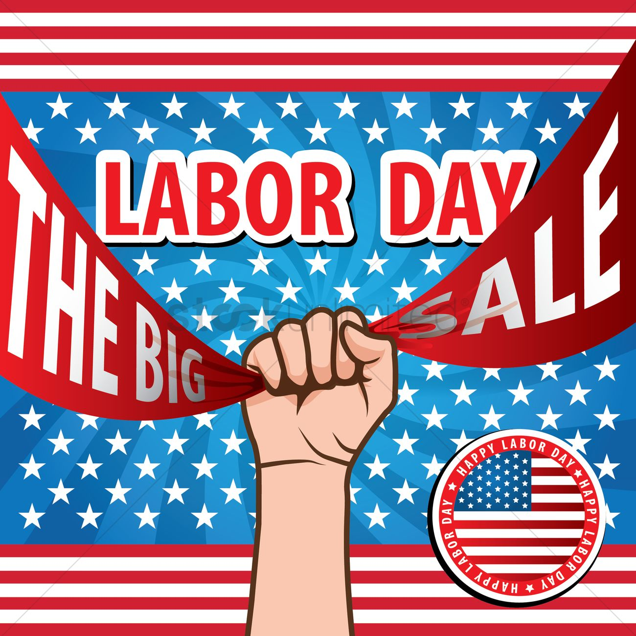 Labor Day Sale Design Vector Image 1557677 Stockunlimited