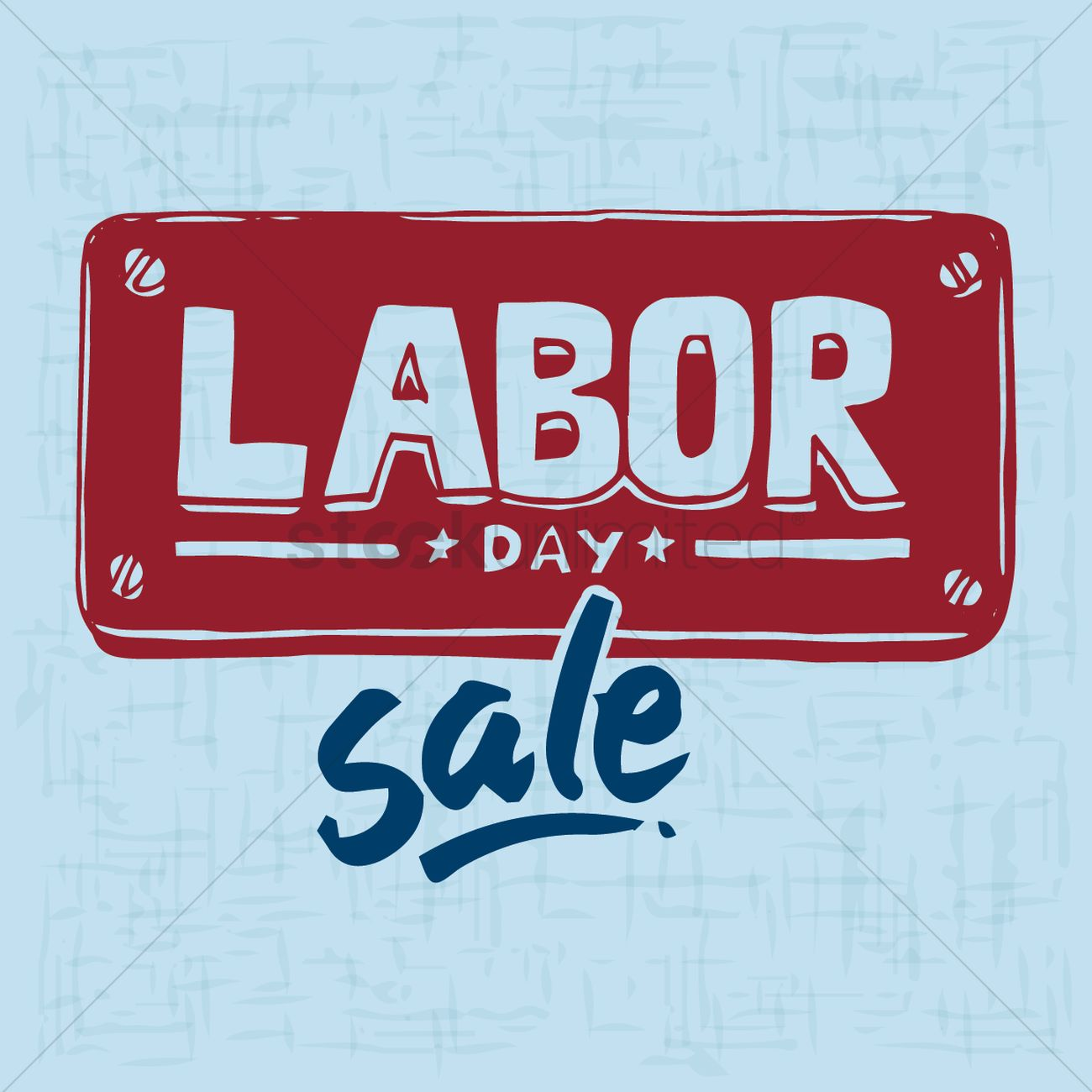 Labor Day Sale Poster Vector Image 1533833 Stockunlimited