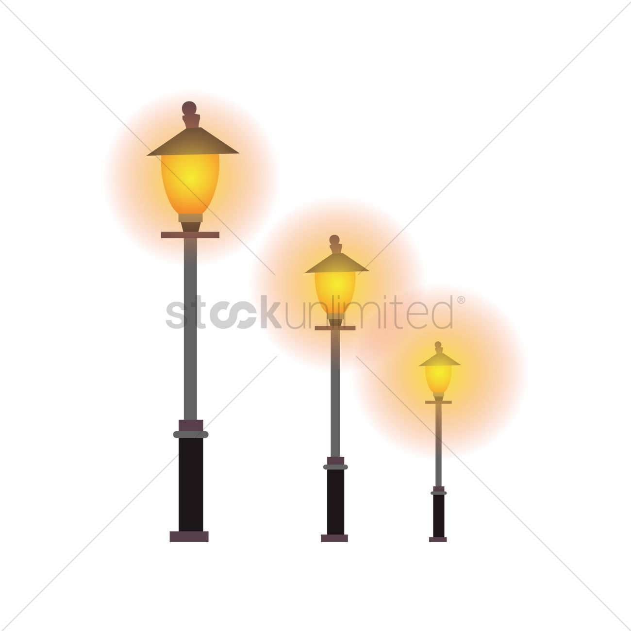 Lamp post Vector Image - 2015721 | StockUnlimited for Street Lamp Post Vector  35fsj