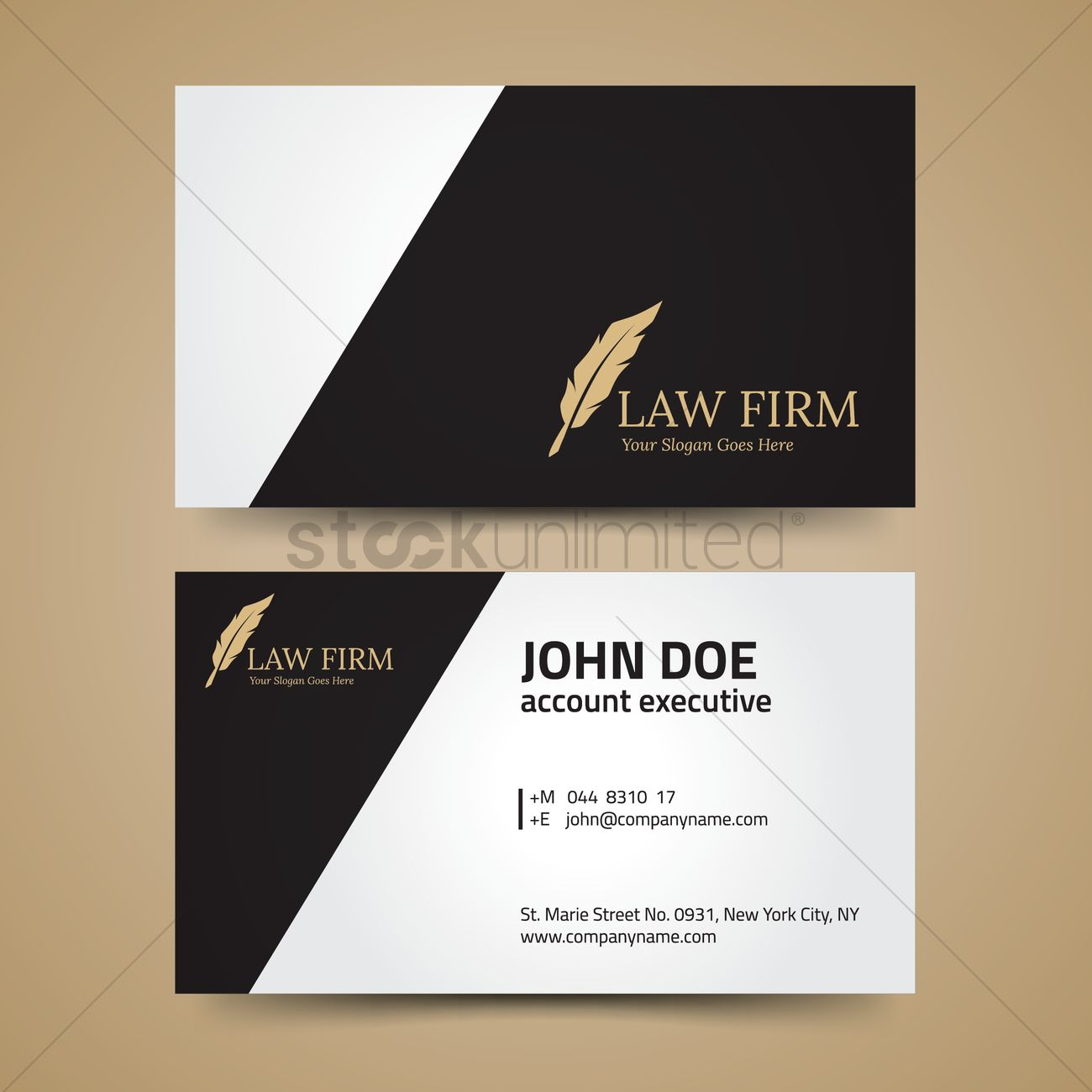 Law firm business card layout vector image 1992561 stockunlimited law firm business card layout vector graphic cheaphphosting Images