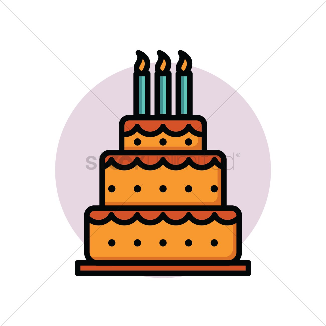 Tremendous Layered Birthday Cake Vector Image 1870933 Stockunlimited Birthday Cards Printable Nowaargucafe Filternl