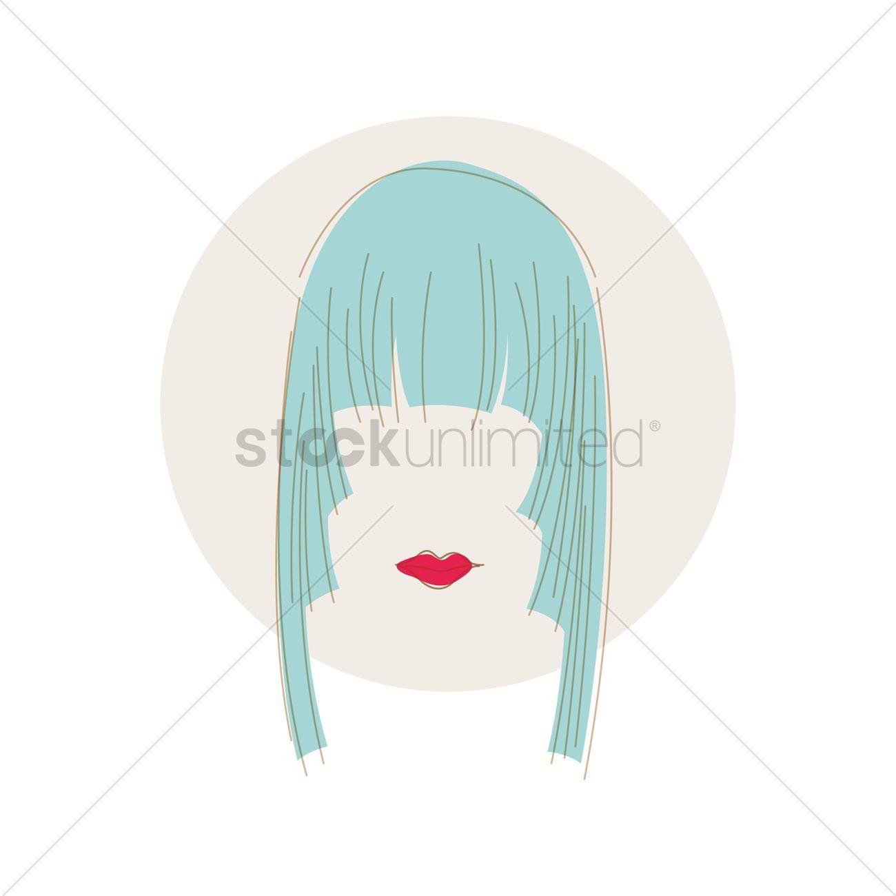 Layered Fringe Hairstyle Vector Image 1373317 Stockunlimited