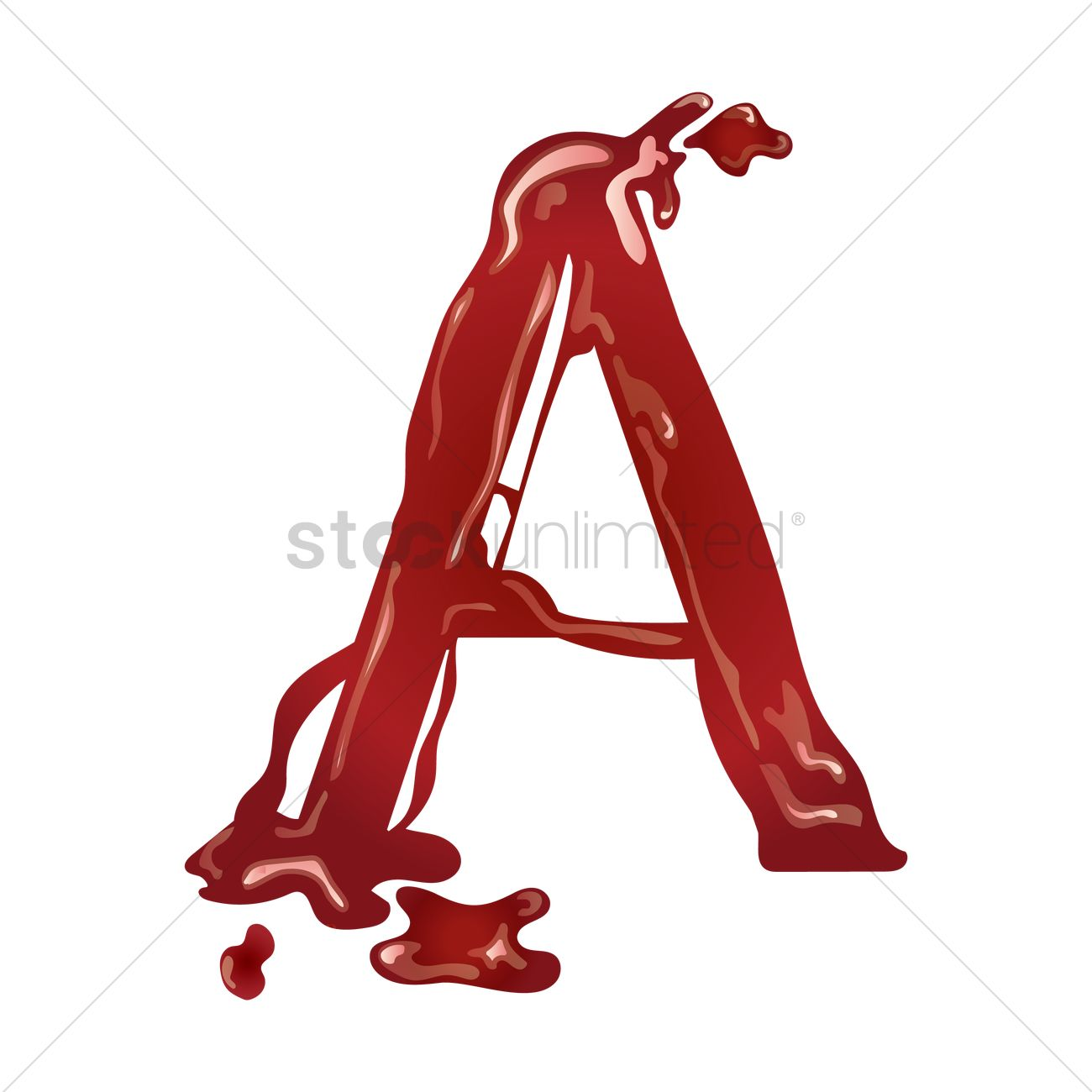 Letter A With Dripping Blood Vector Image