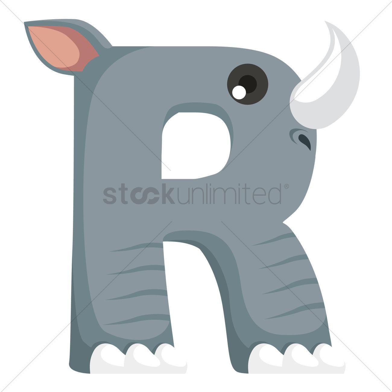Letter R For Rhinoceros 1236517
