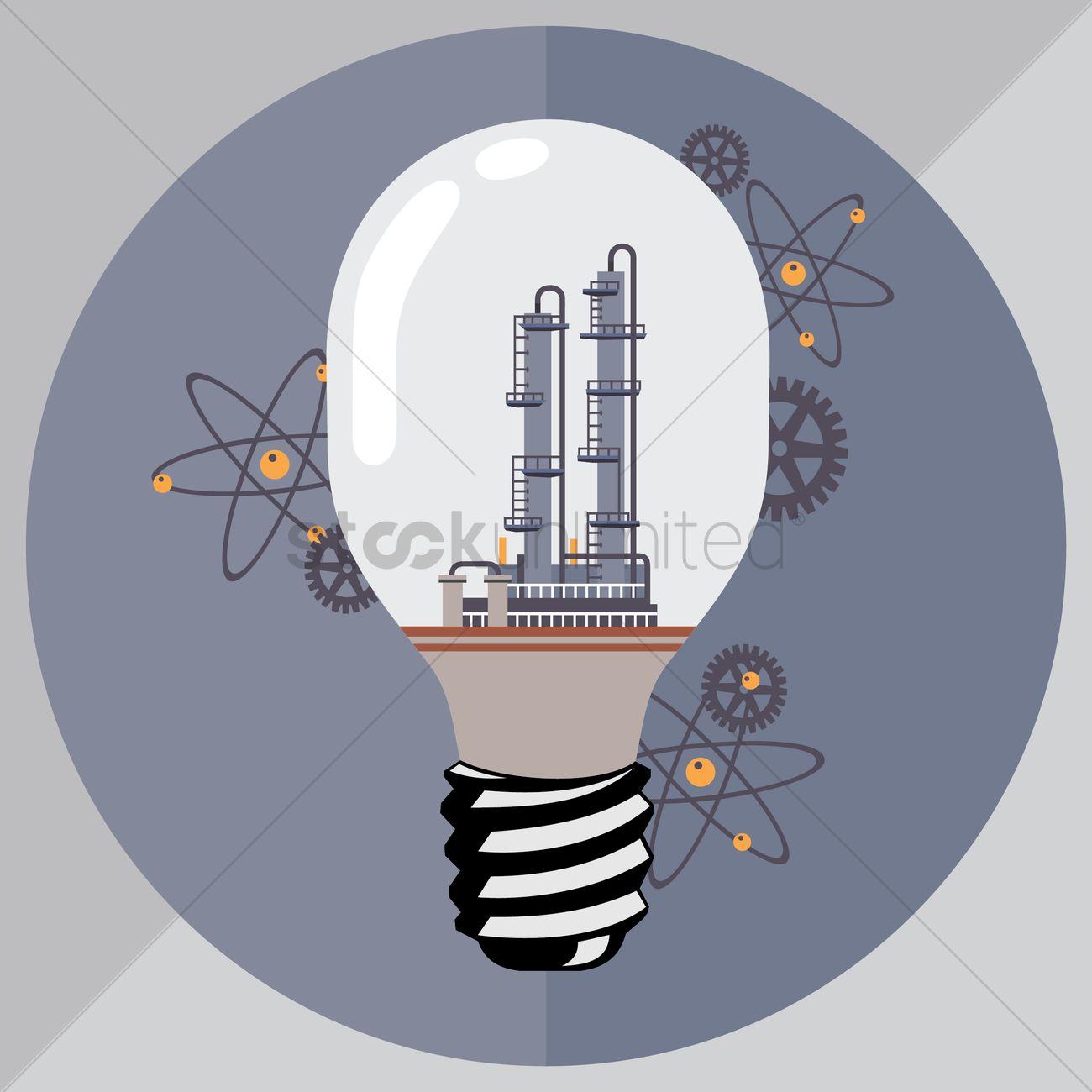 Lightbulb Concept On Idea Generator Vector Image 1299417